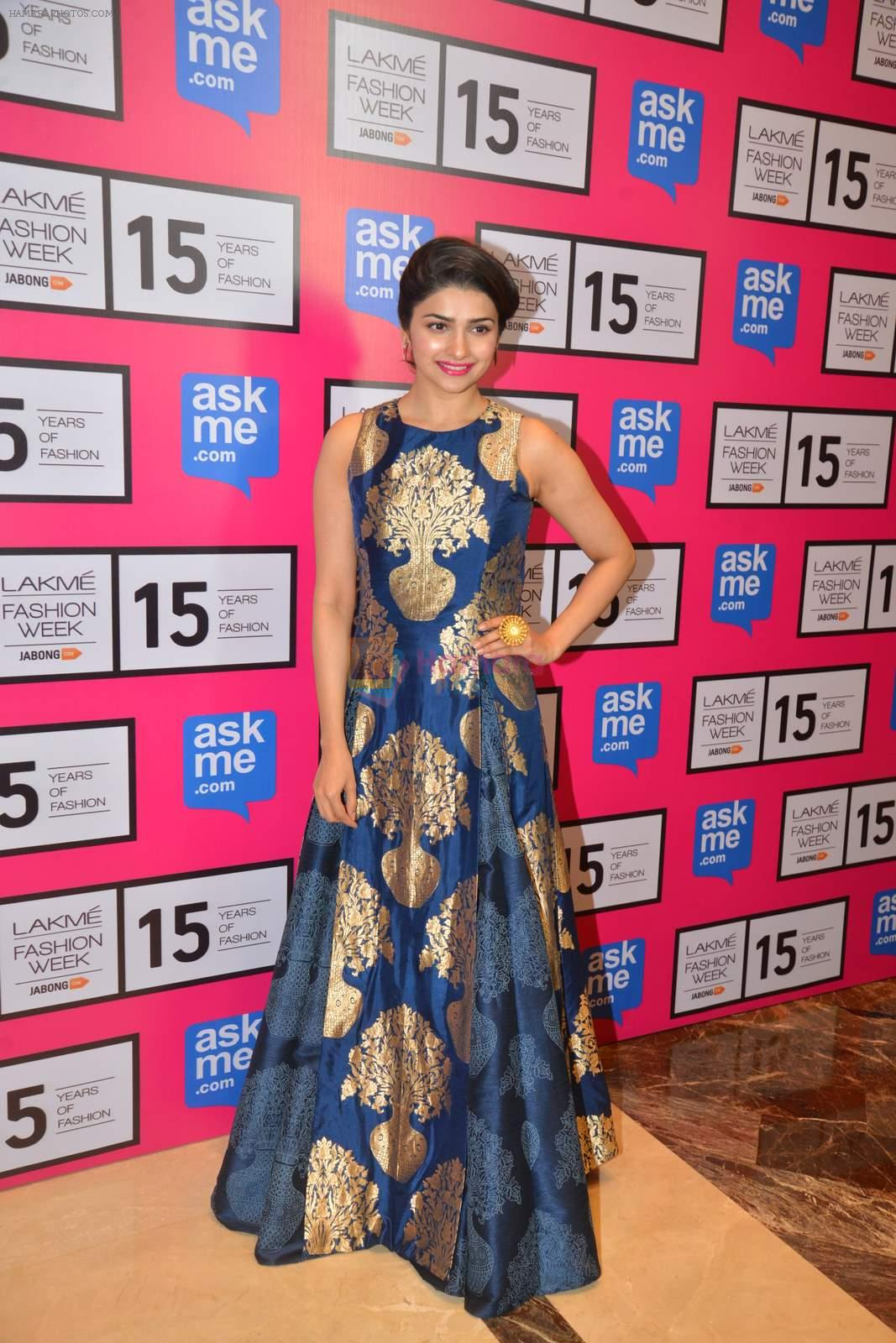 Prachi Desai on Day 4 at Lakme Fashion Week 2015 on 21st March 2015
