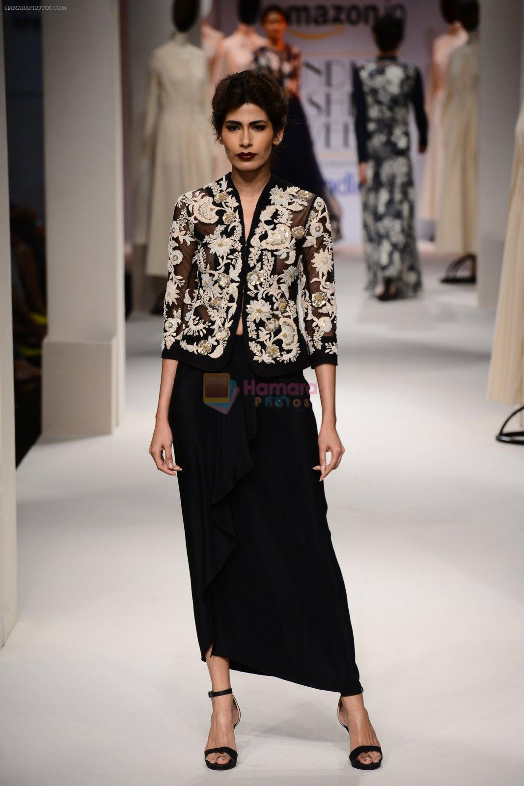 Model walk the ramp for Kavita Bhartia on day 1 of Amazon India Fashion Week on 25th March 2015