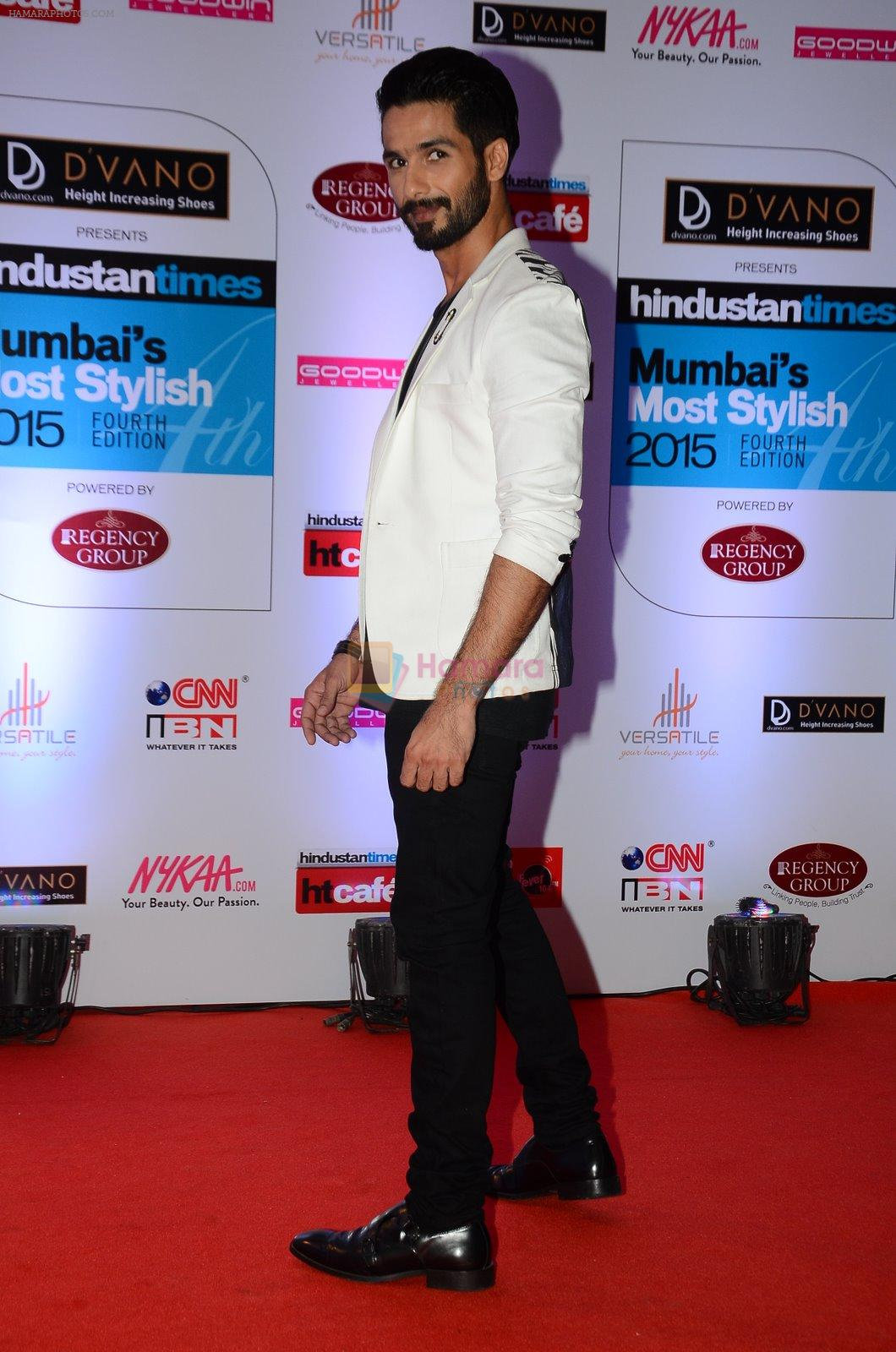 Shahid Kapoor at HT Mumbai's Most Stylish Awards 2015 in Mumbai on 26th March 2015