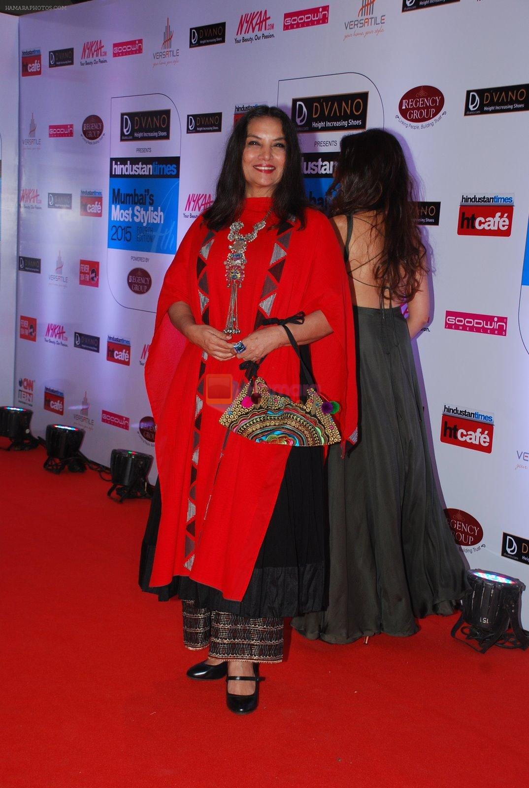 Aditi Rao Hydari, Shabana Azmi at HT Mumbai's Most Stylish Awards 2015 in Mumbai on 26th March 2015