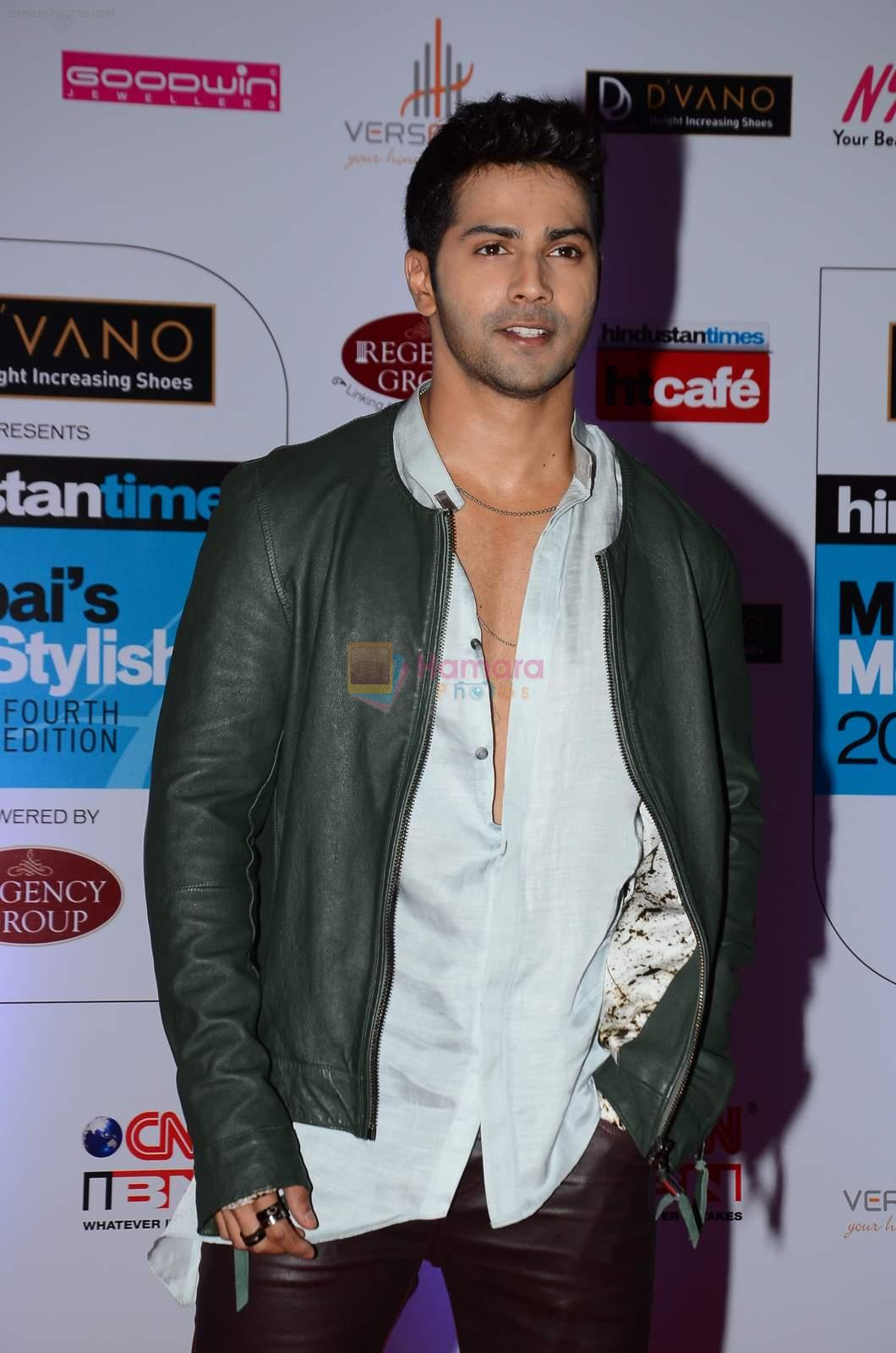 Varun Dhawan at HT Mumbai's Most Stylish Awards 2015 in Mumbai on 26th March 2015