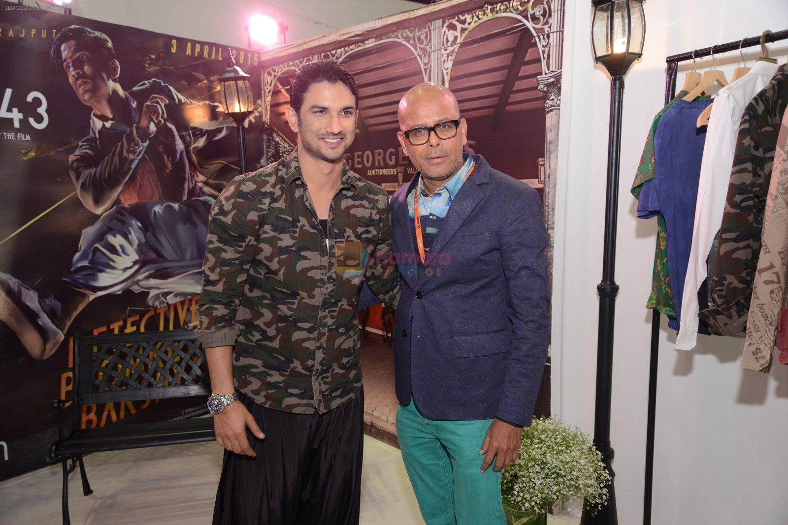 Sushant Singh Rajput unveils Byomkesh Bakshy line at AIFW on 26th March 2015