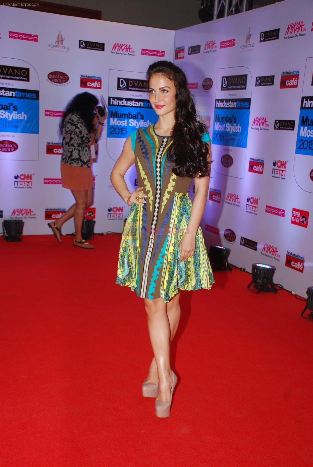 Elli Avram at HT Mumbai's Most Stylish Awards 2015 in Mumbai on 26th March 2015