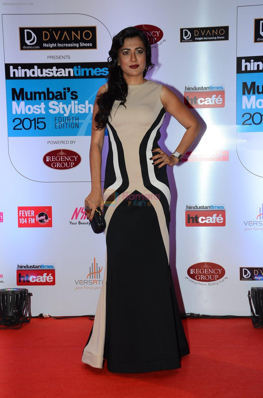 Mini Mathur at HT Mumbai's Most Stylish Awards 2015 in Mumbai on 26th March 2015
