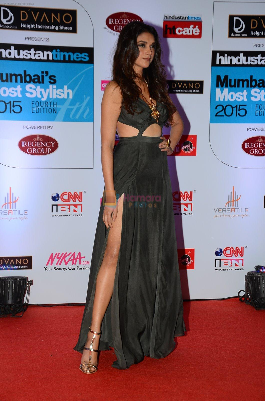 Aditi Rao Hydari at HT Mumbai's Most Stylish Awards 2015 in Mumbai on 26th March 2015