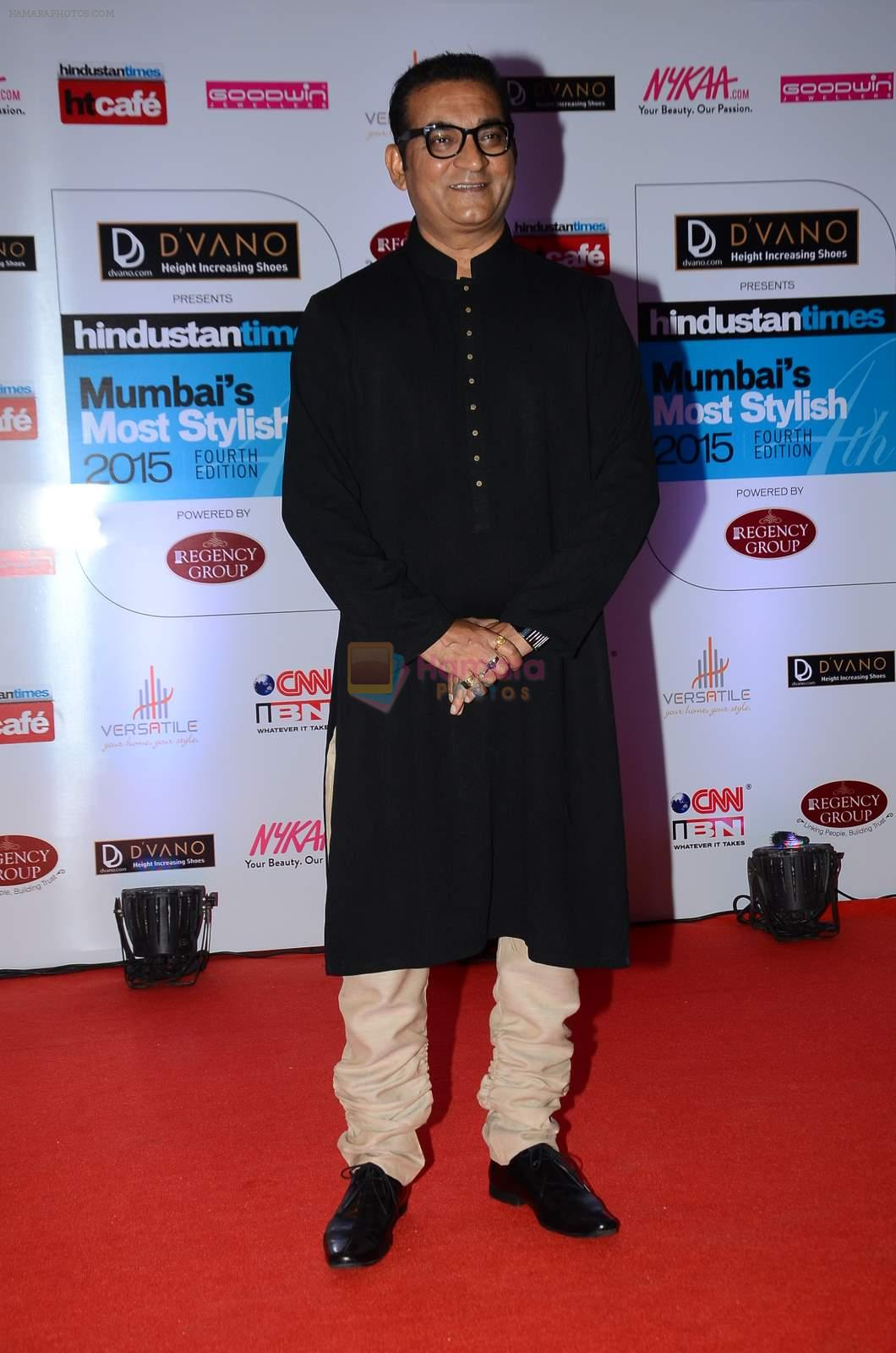 Abhijeet Bhattacharya at HT Mumbai's Most Stylish Awards 2015 in Mumbai on 26th March 2015
