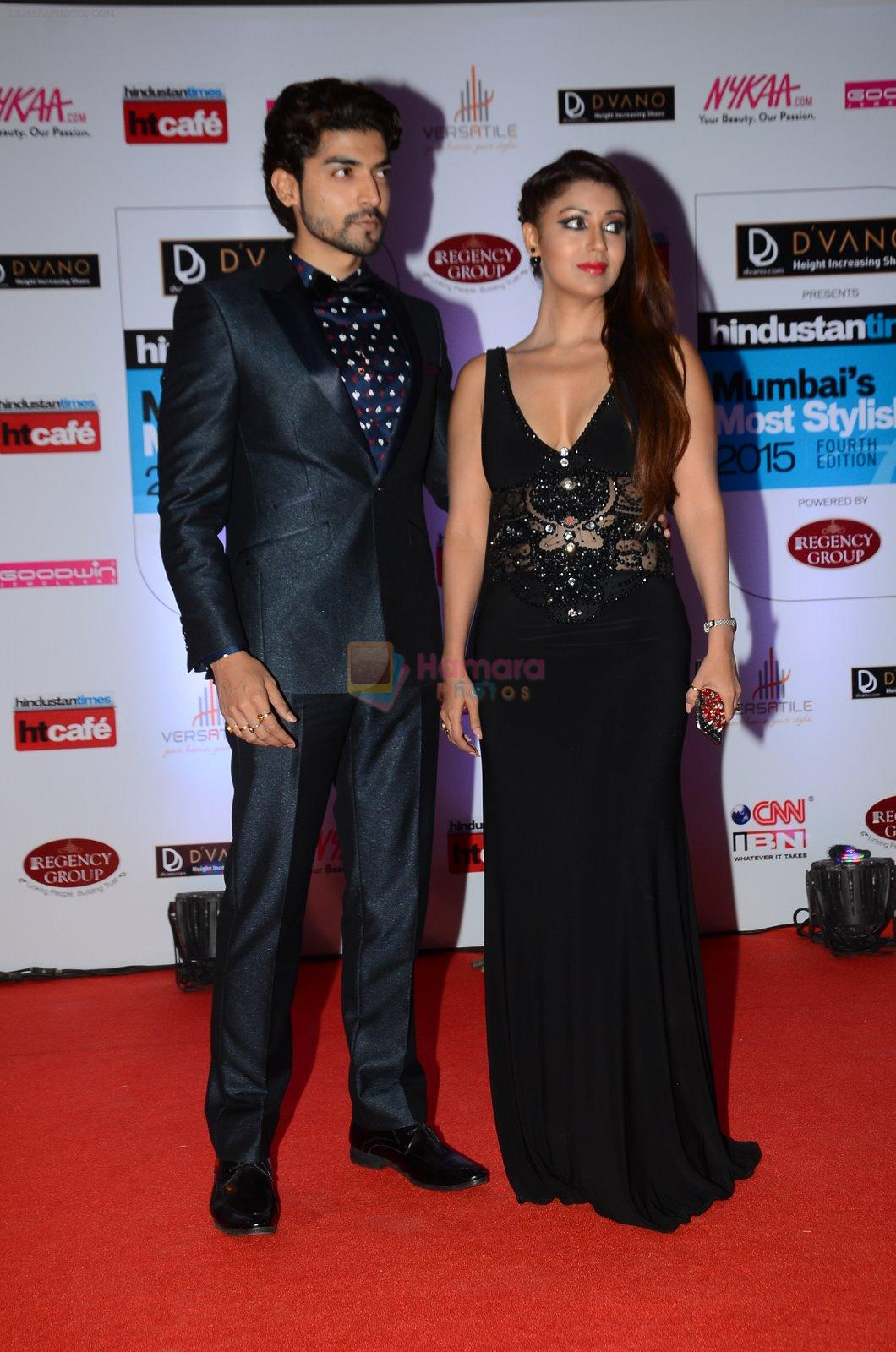 Debina Banerjee, Gurmeet Chaudhary at HT Mumbai's Most Stylish Awards 2015 in Mumbai on 26th March 2015