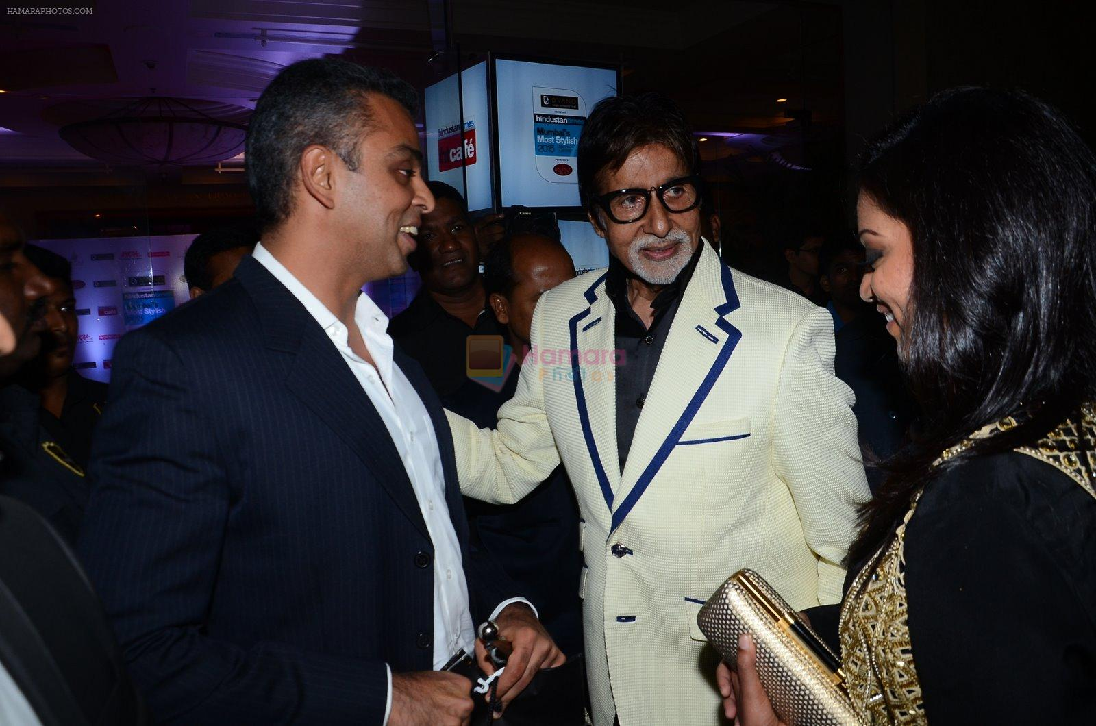 Amitabh bachchan at HT Mumbai's Most Stylish Awards 2015 in Mumbai on 26th March 2015