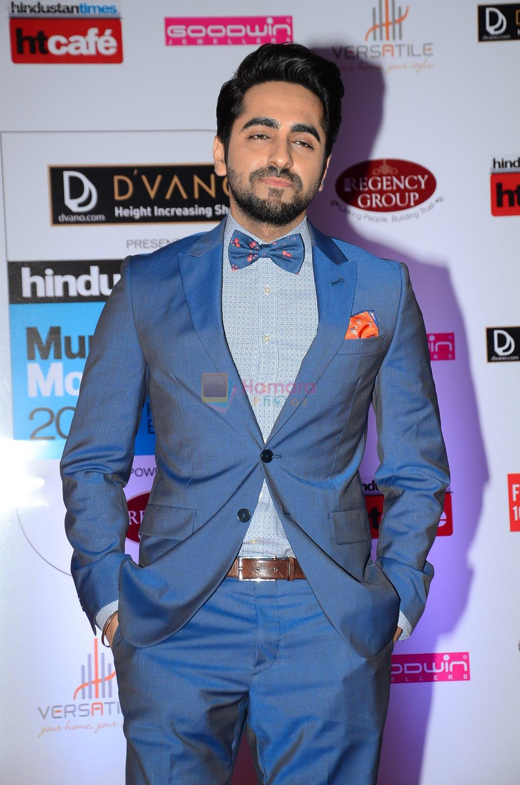 Ayushman Khurana at HT Mumbai's Most Stylish Awards 2015 in Mumbai on 26th March 2015