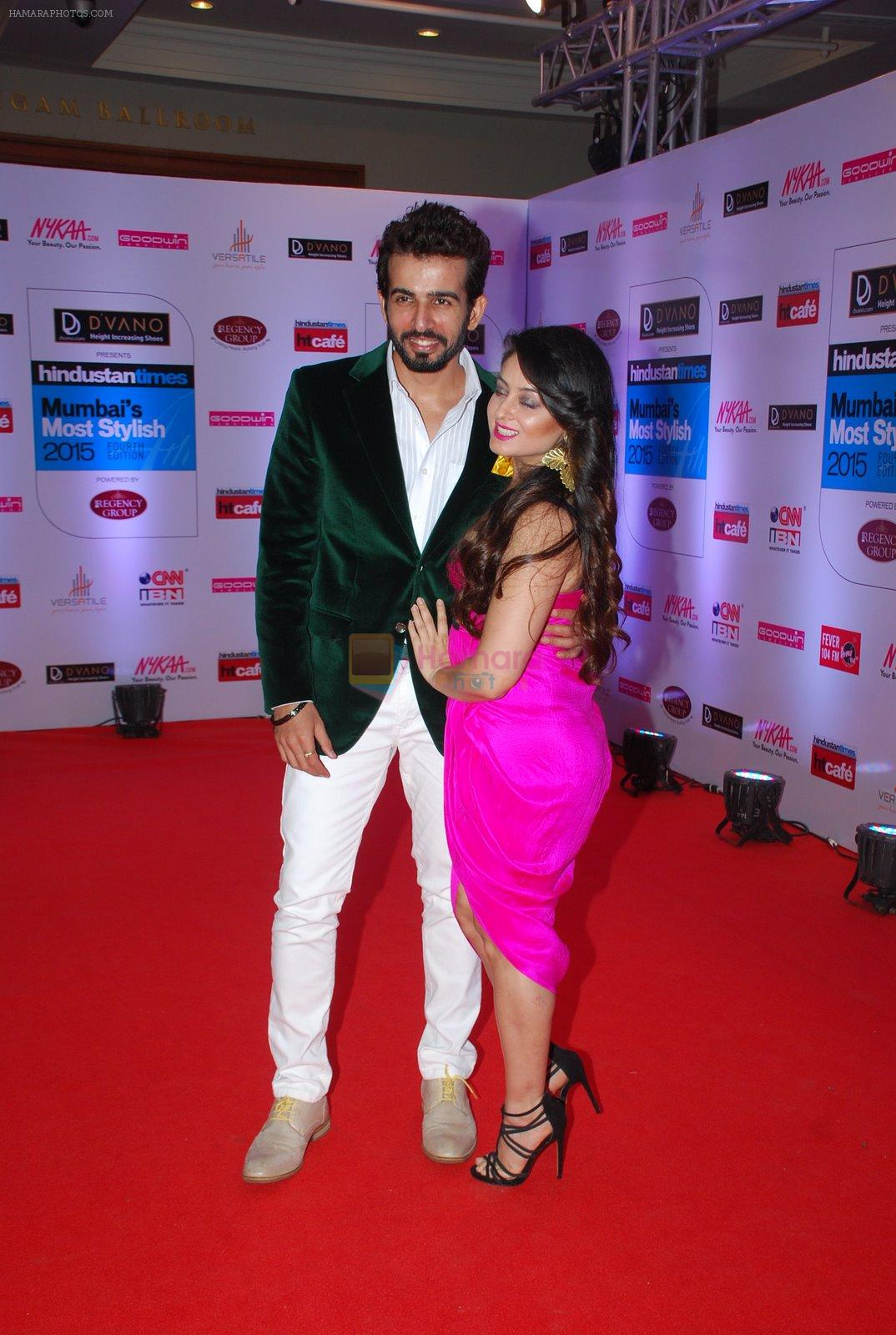 Jay Bhanushali, Mahi Vij at HT Mumbai's Most Stylish Awards 2015 in Mumbai on 26th March 2015