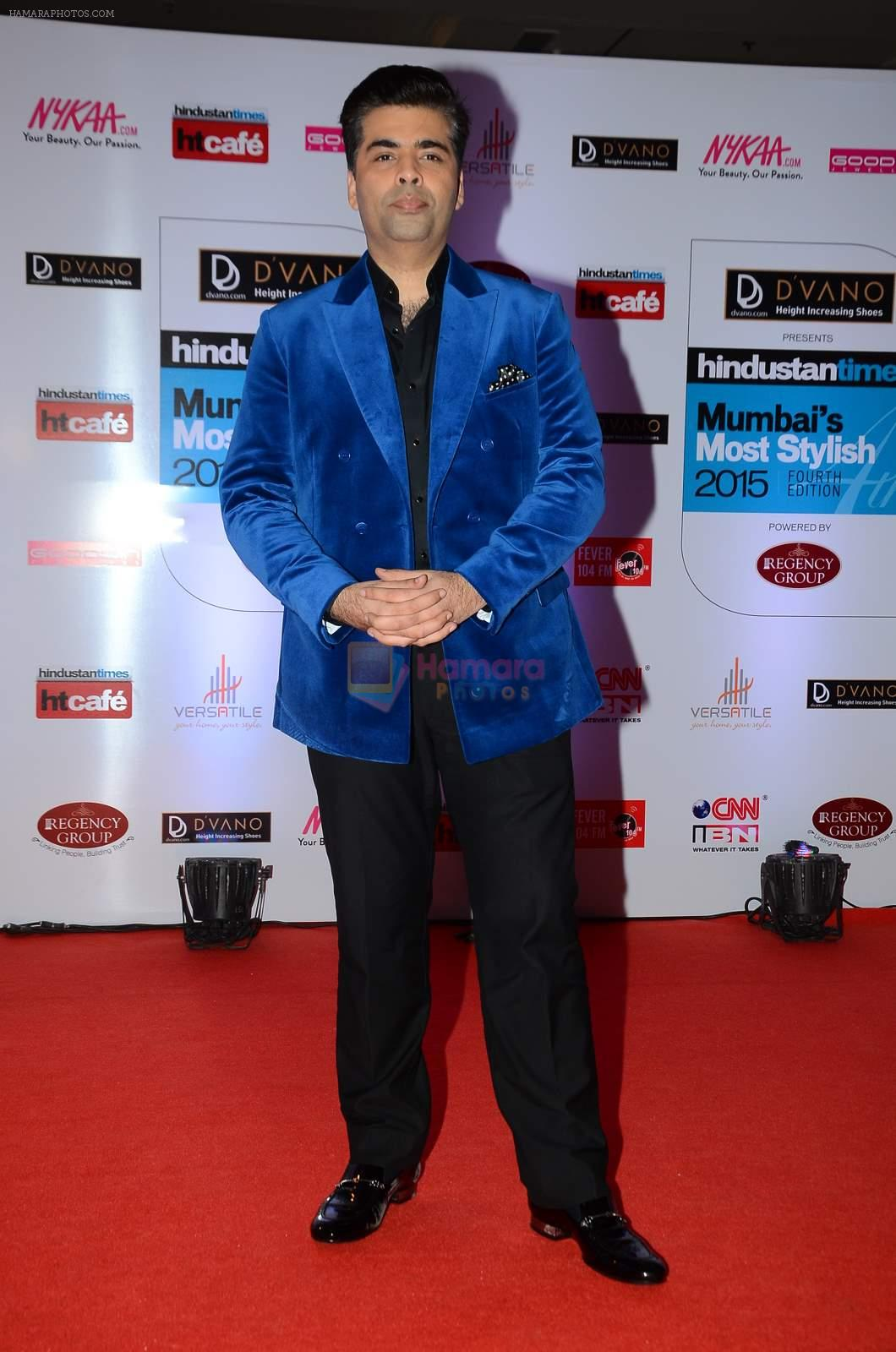 Karan Johar at HT Mumbai's Most Stylish Awards 2015 in Mumbai on 26th March 2015