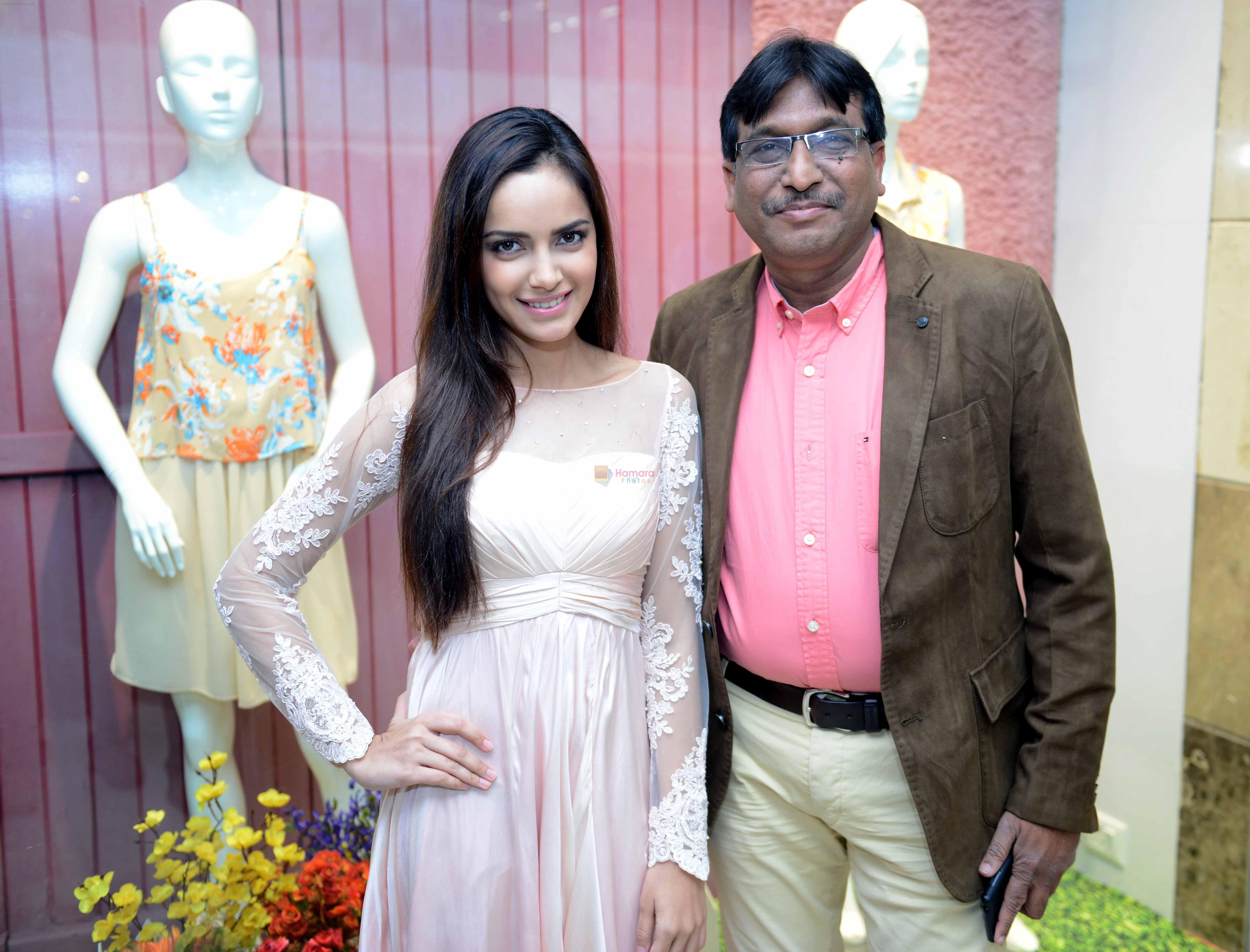 Shazahn Padamsee during the Launch of first Perfume JOEI at Madame showroom, Ambience Mall, gurgaon,Haryana on 14th April 2015
