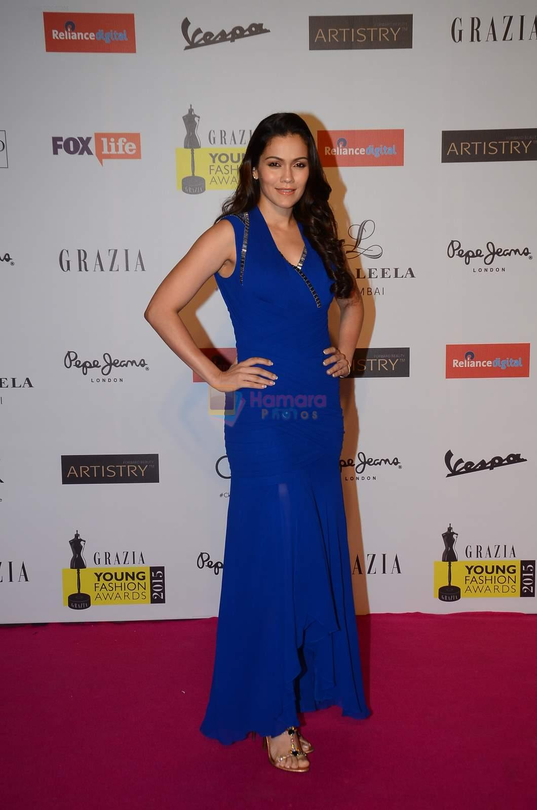 Waluscha De Sousa at Grazia young fashion awards red carpet in Leela Hotel on 15th April 2015
