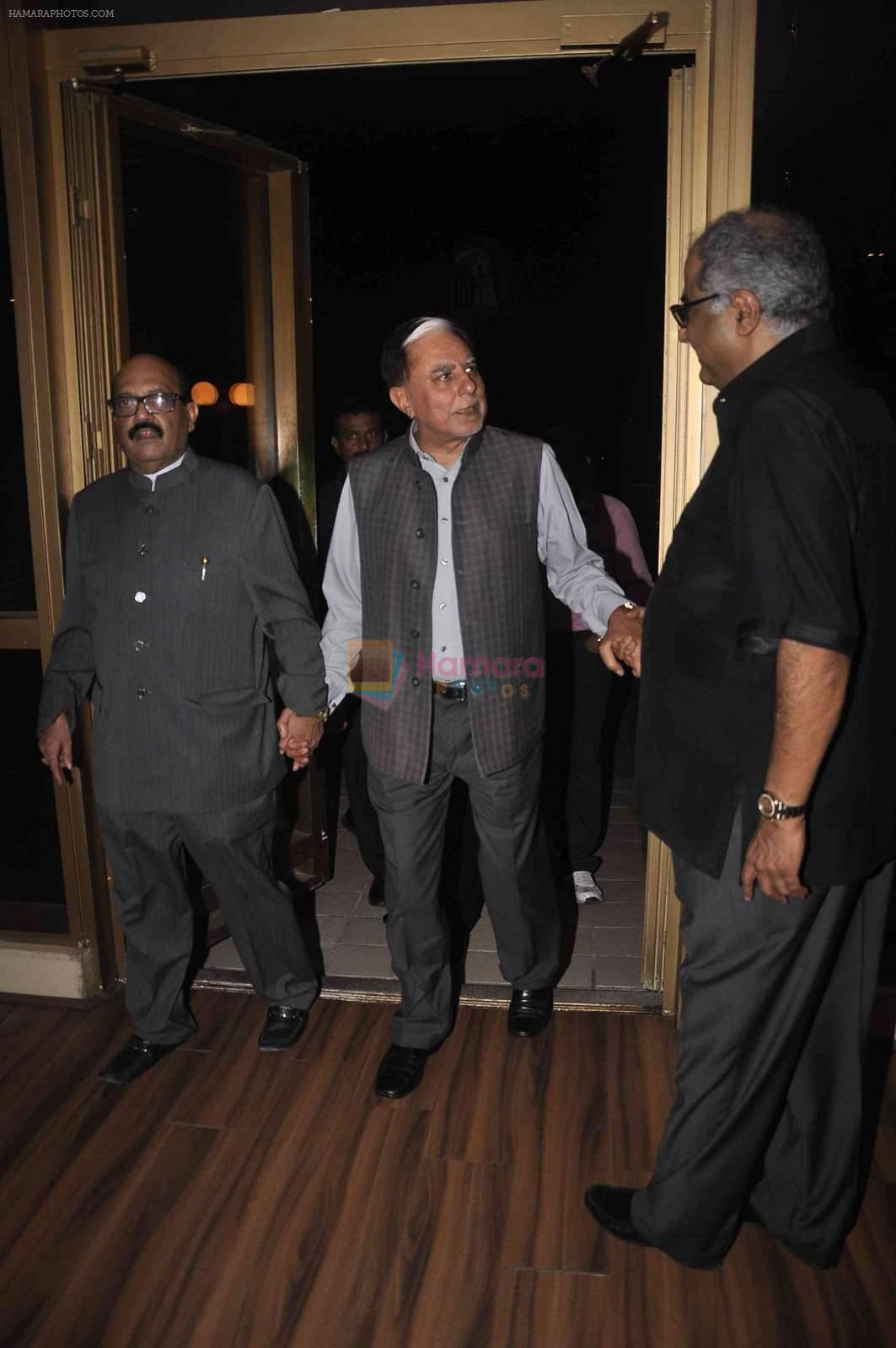 Boney Kapoor at Amar Singh's bash in Lower Parel on 27th April 2015