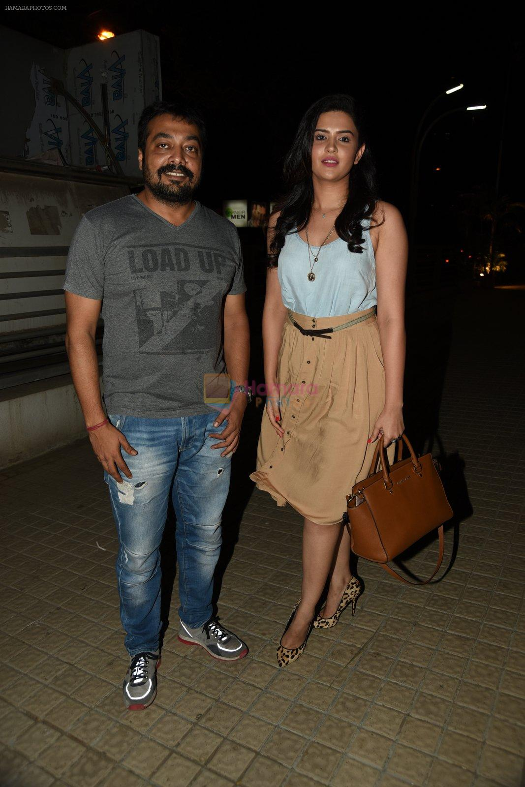 Anurag Kashyap and Deeksha Seth snapped at Bombay Velvet Screening on 14th May 2015
