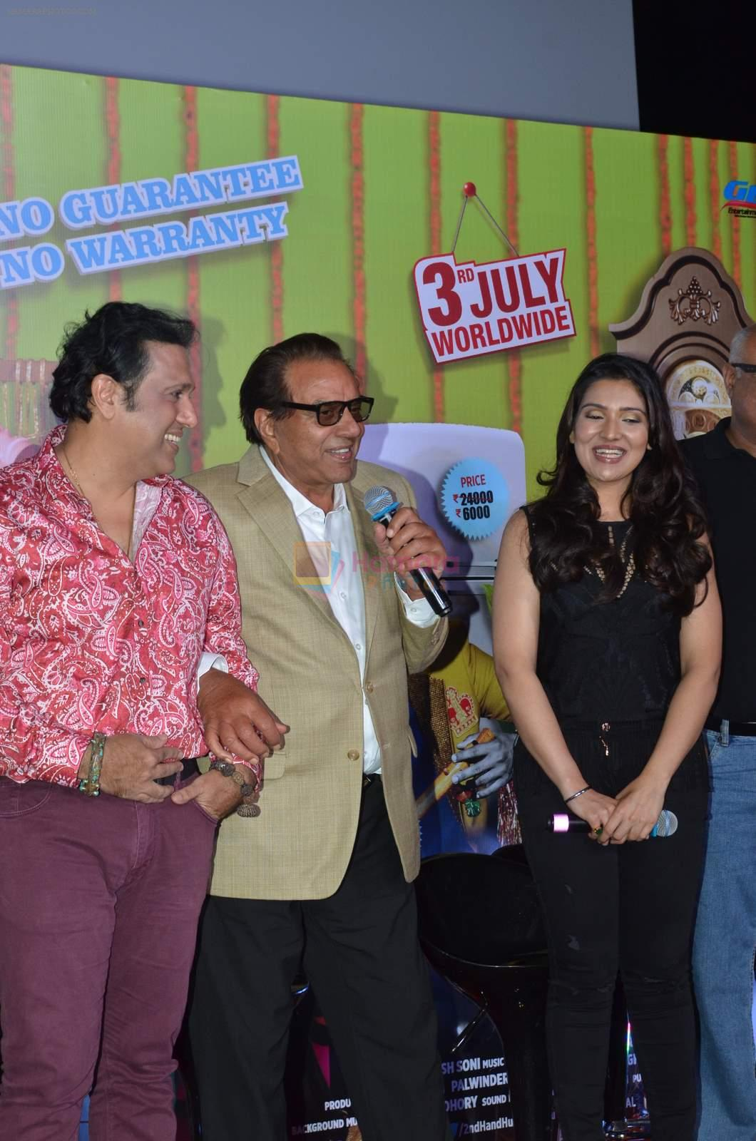 Govinda, Dharmendra, Narmmadaa Ahuja at the launch of first look & trailer of Second Hand Husband on 3rd June 2015