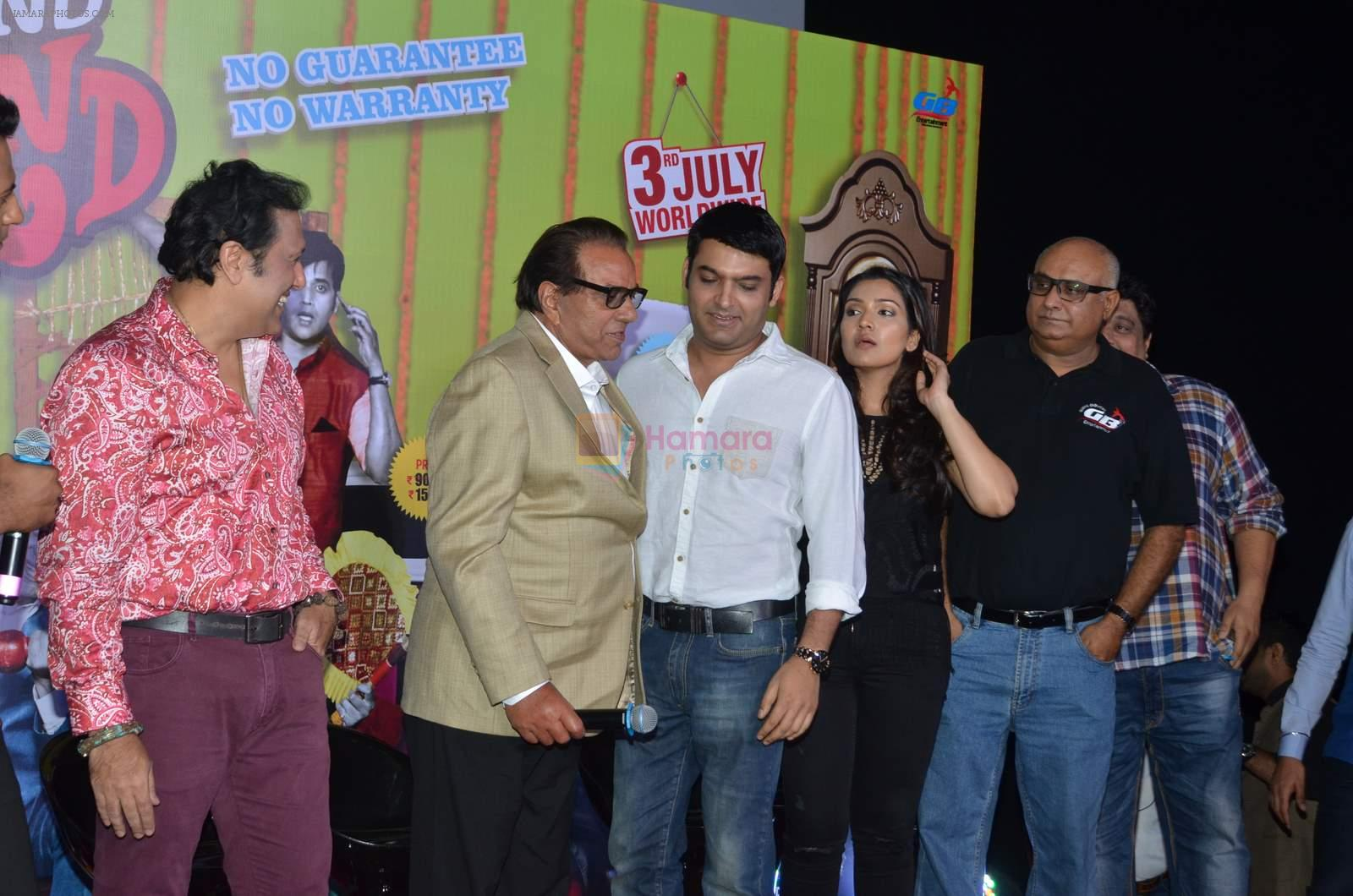 Govinda, Dharmendra, Narmmadaa Ahuja, Kapil Sharma at the launch of first look & trailer of Second Hand Husband on 3rd June 2015