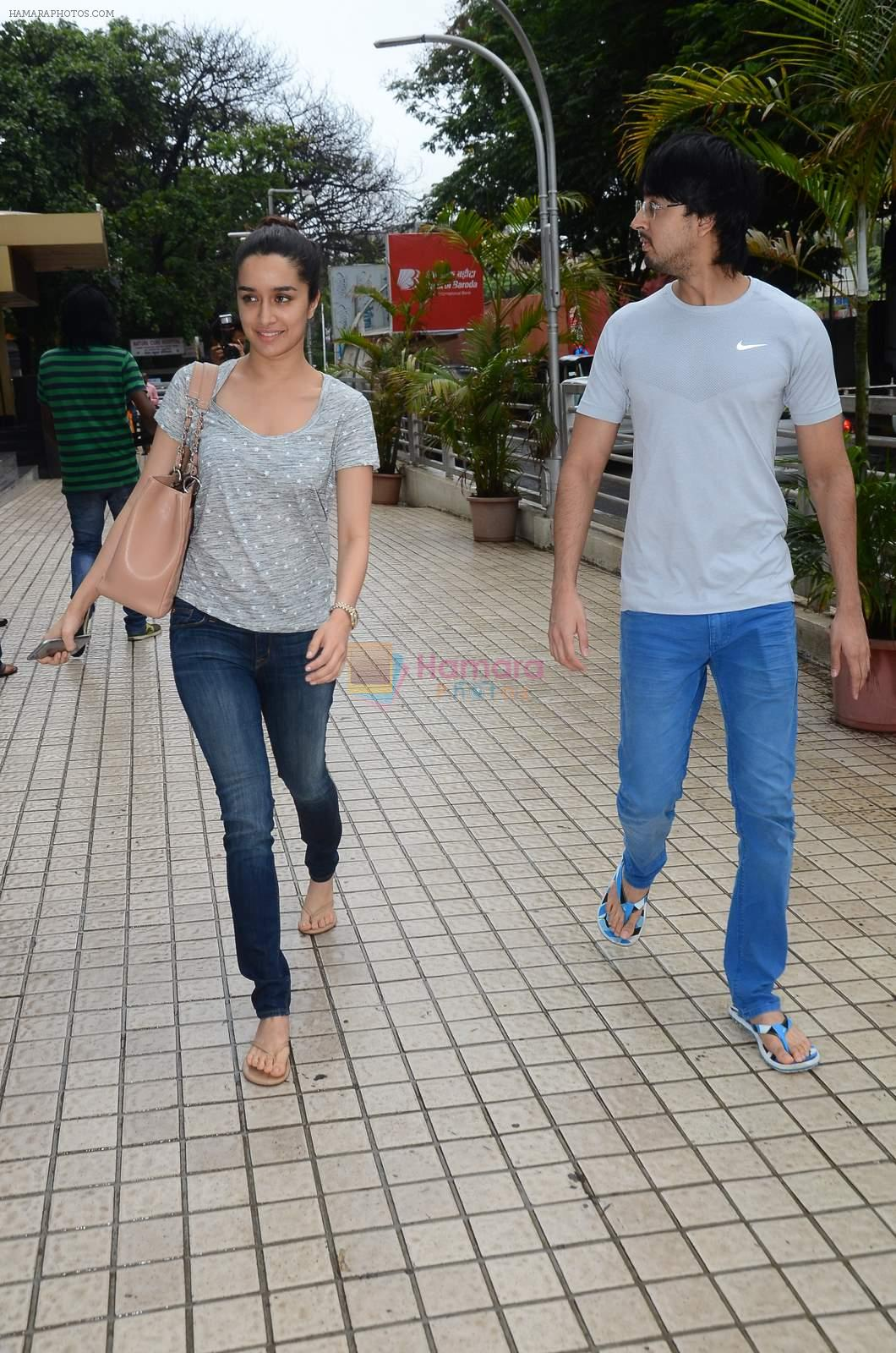 Shraddha Kapoor snapped with cousin Priyank on 14th June 2015