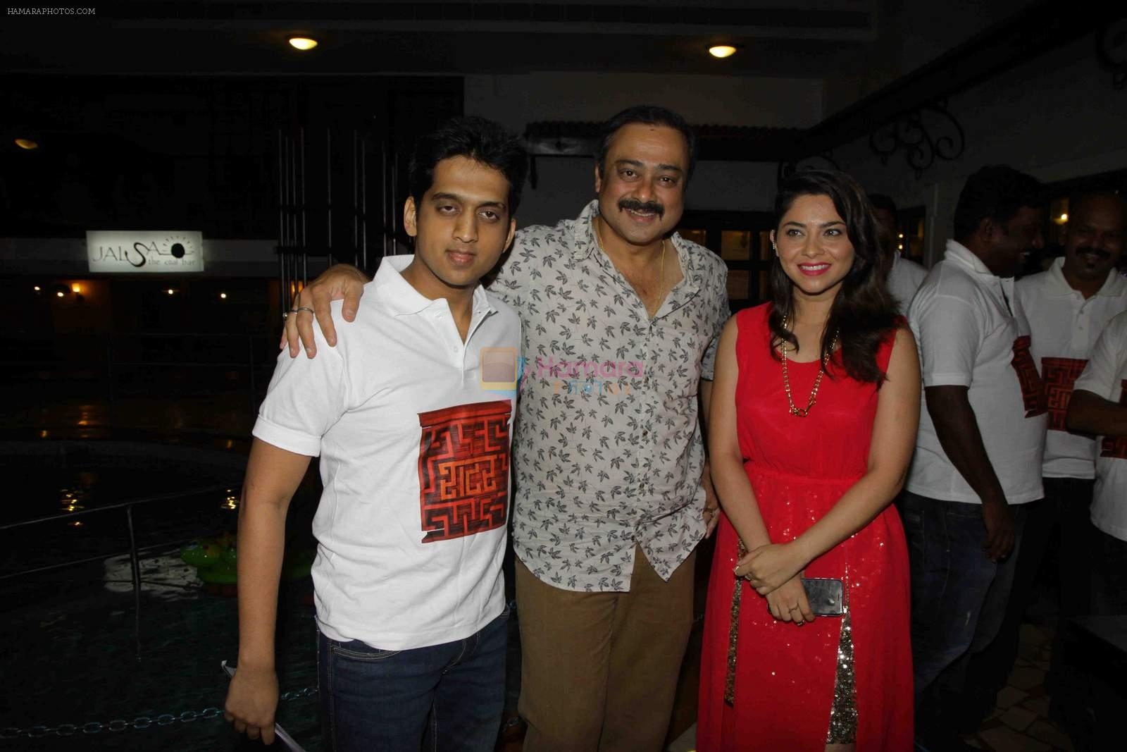 Sonalee Kulkarni, Sachin Khedekar, Amey Wagh at Shutter music launch in Mumbai on 25th June 2015