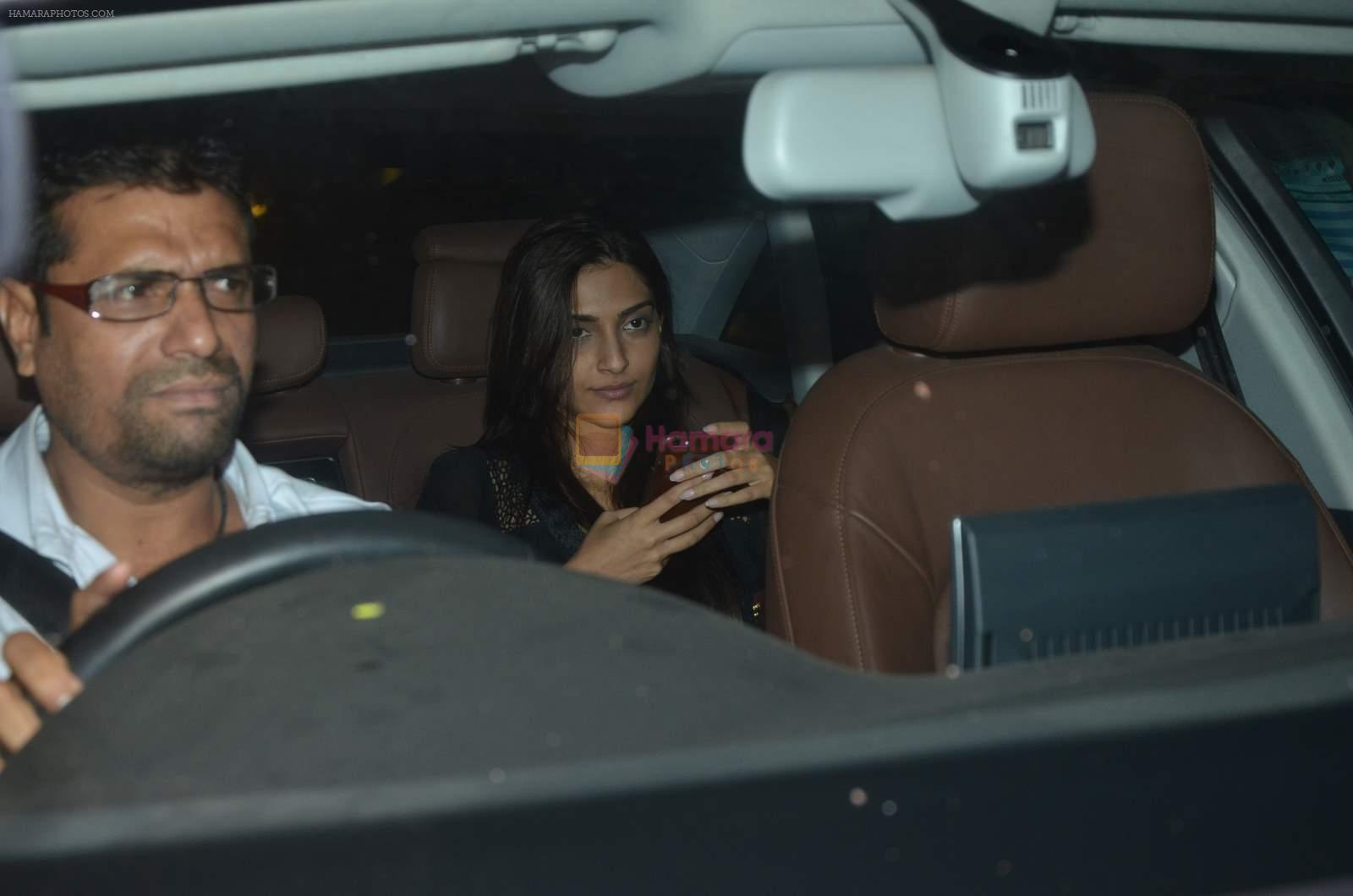 Sonam Kapoor at Arjun Kapoor's bday get together in Mumbai on 25th June 2015
