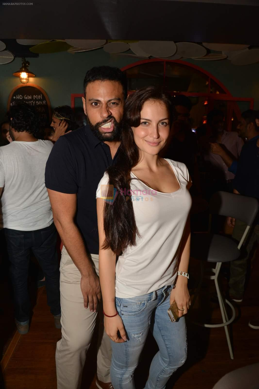 Elli Avram, Andy at Fatty Bow restaurant launch in Bandra, Mumbai on 27th June 2015