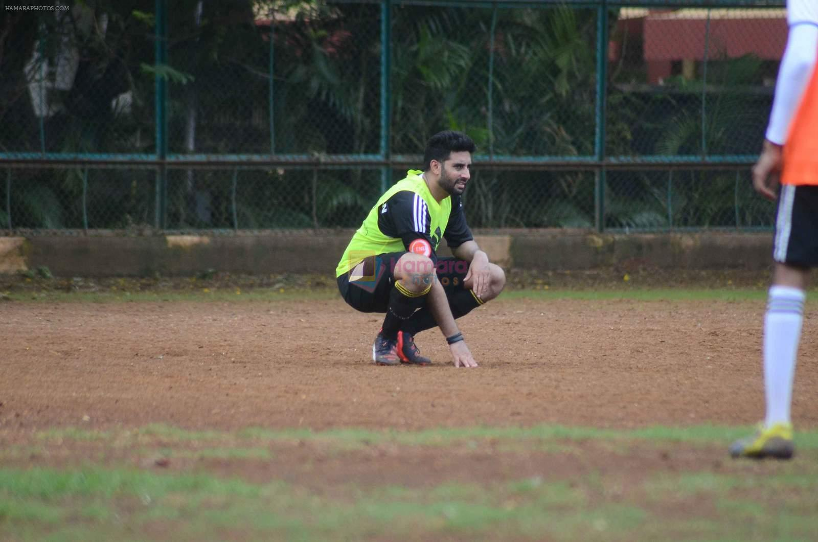 Abhishek Bachchan snapped at all star football practice session in Bandra, Mumbai on 28th June 2015