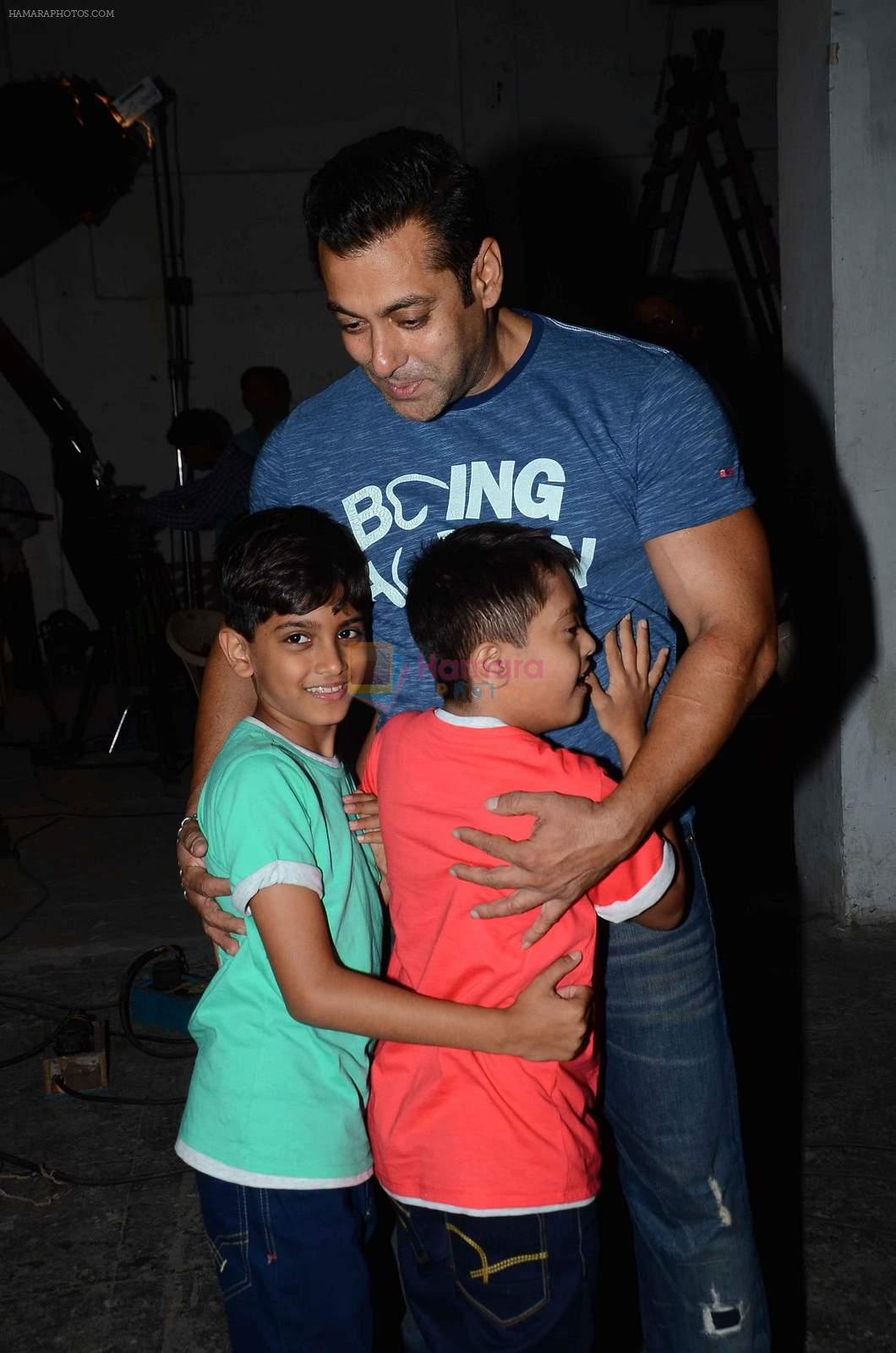 salman Khan snapped at mehboob studios on 28th June 2015