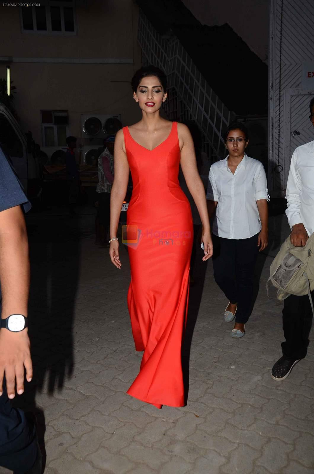 Sonam Kapoor snapped at mehboob studios on 28th June 2015
