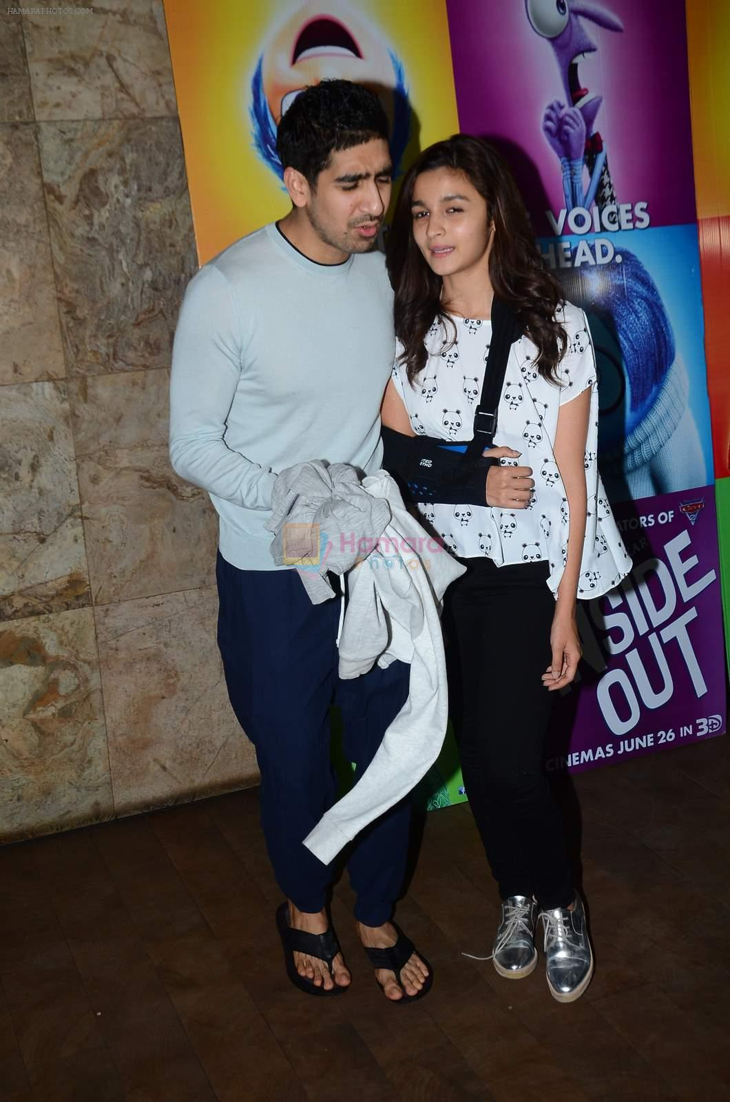 Alia Bhatt, Ayan Mukerji at Inside Outside screening at lightbox on 30th June 2015