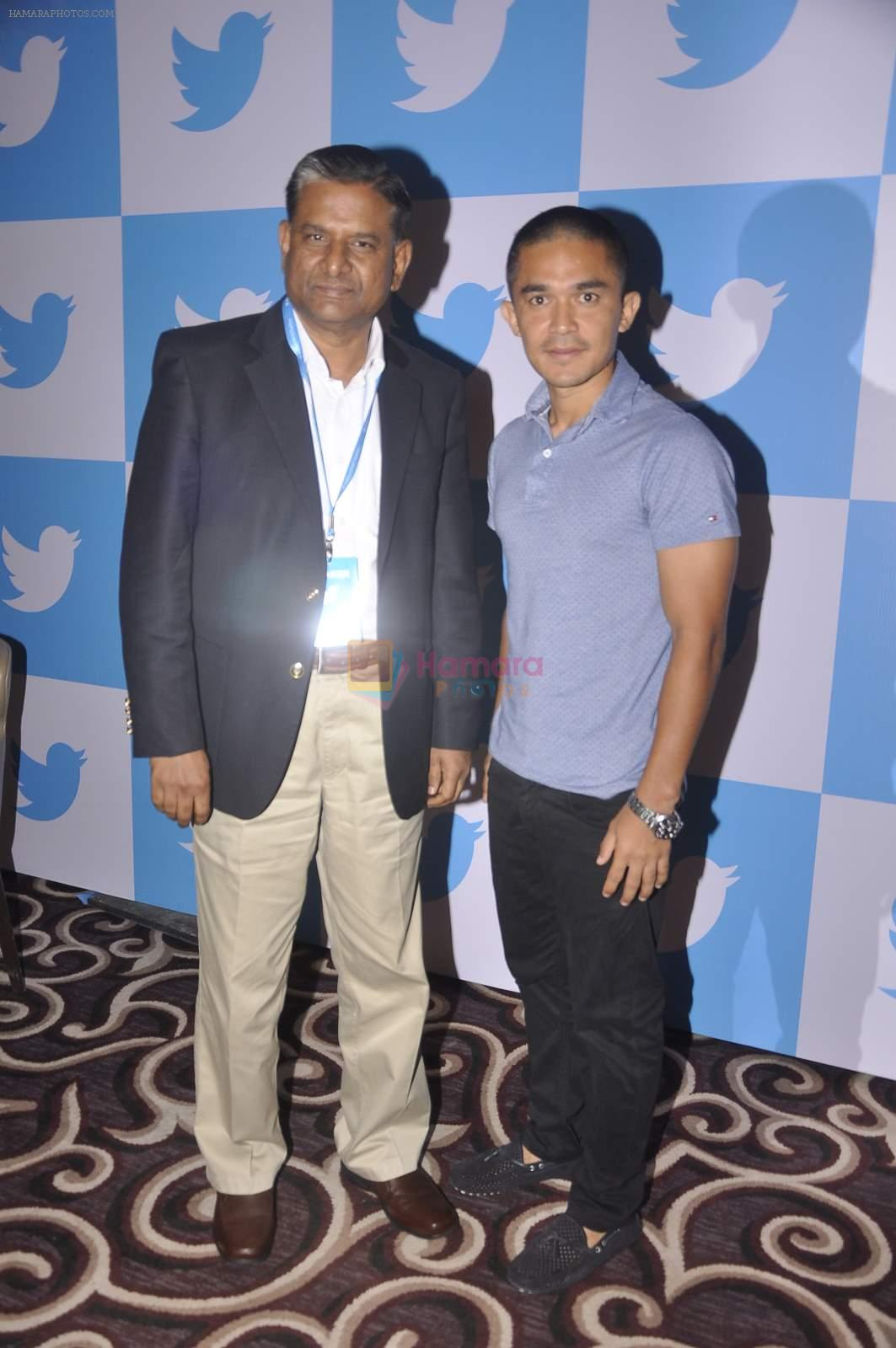 Sunil chetri at twitter India Event on 30th June 2015