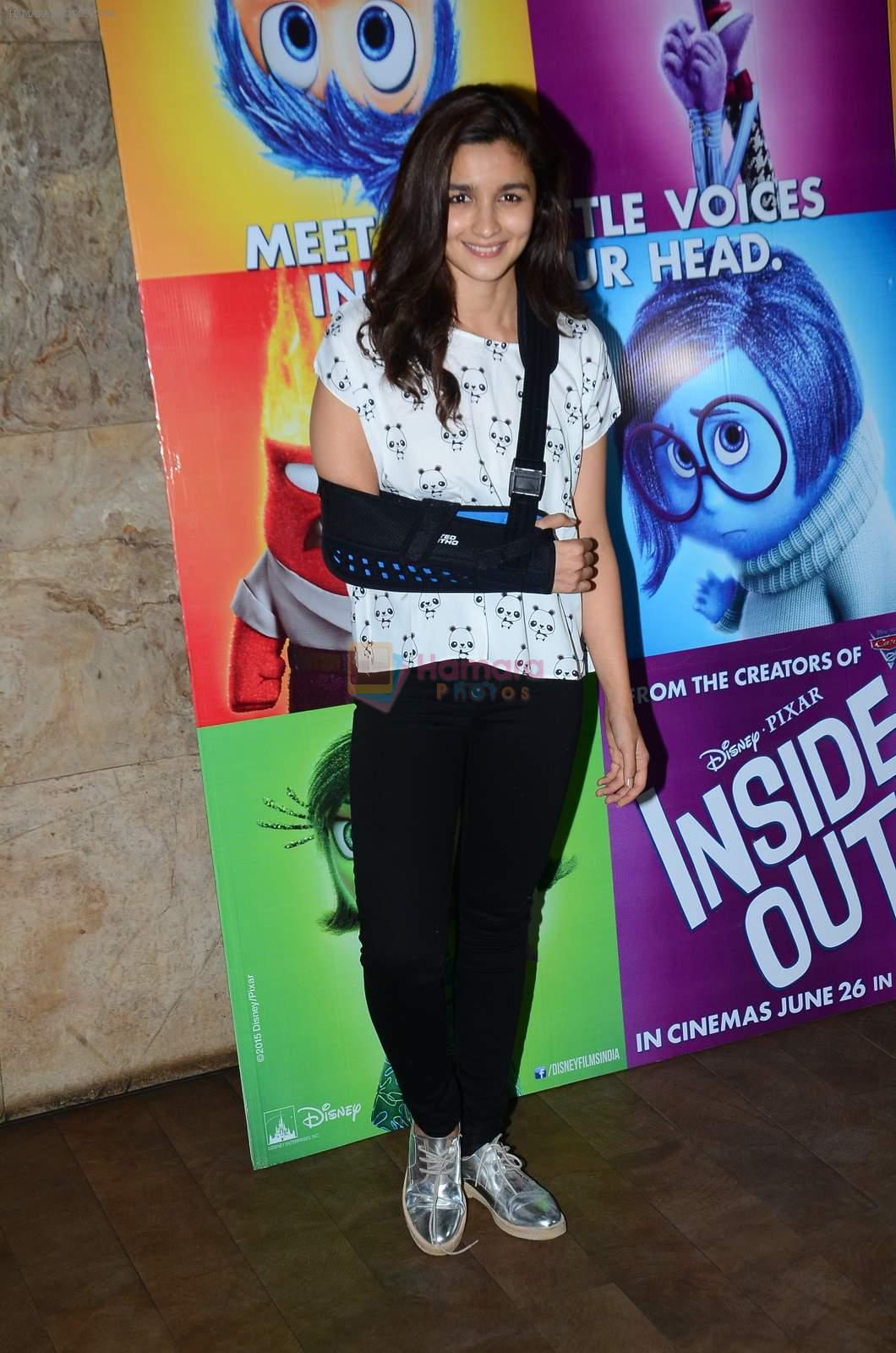 Alia Bhatt at Inside Outside screening at lightbox on 30th June 2015