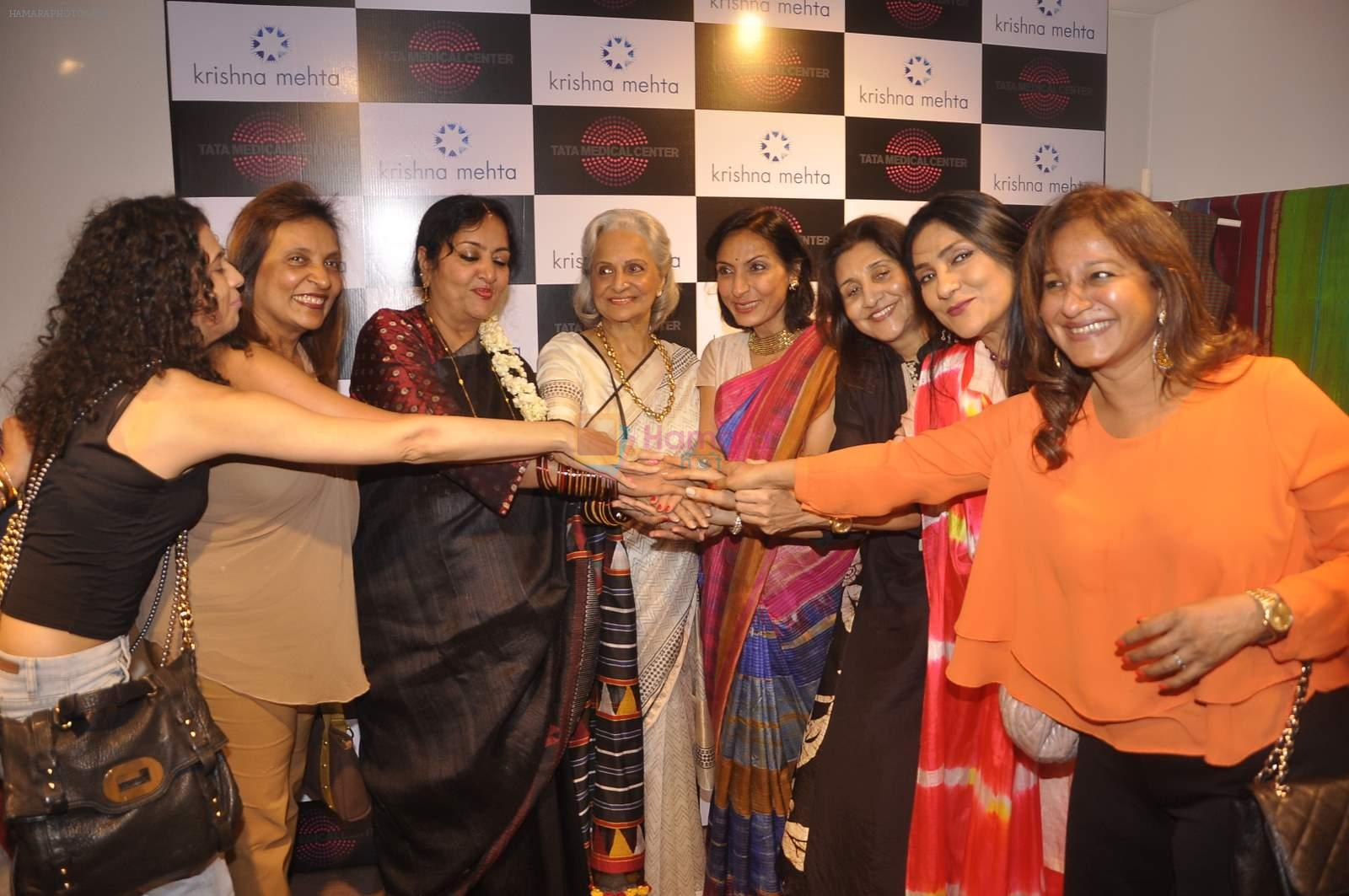 Waheeda Rehman at Krishna Mehta's store in association with Tata Medical Center in Chowpatty on 10th July 2015