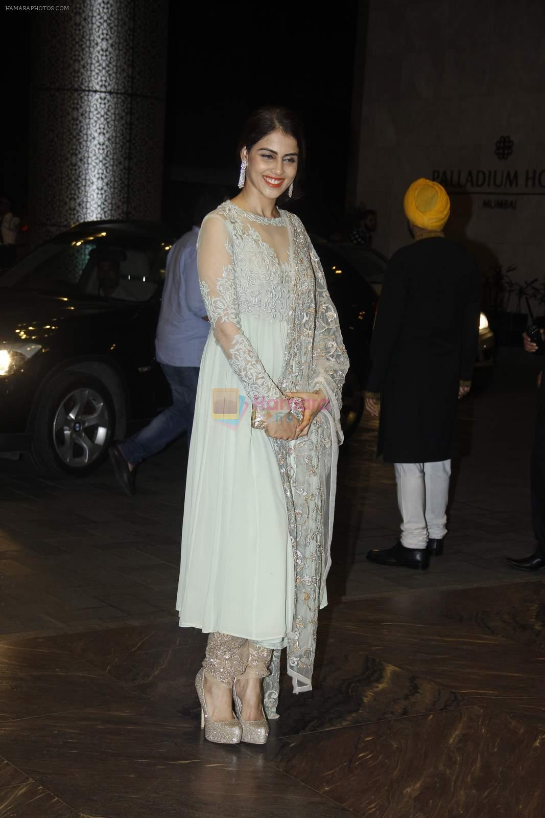 Genelia D Souza at Shahid Kapoor and Mira Rajput's wedding reception in Mumbai on 12th July 2015