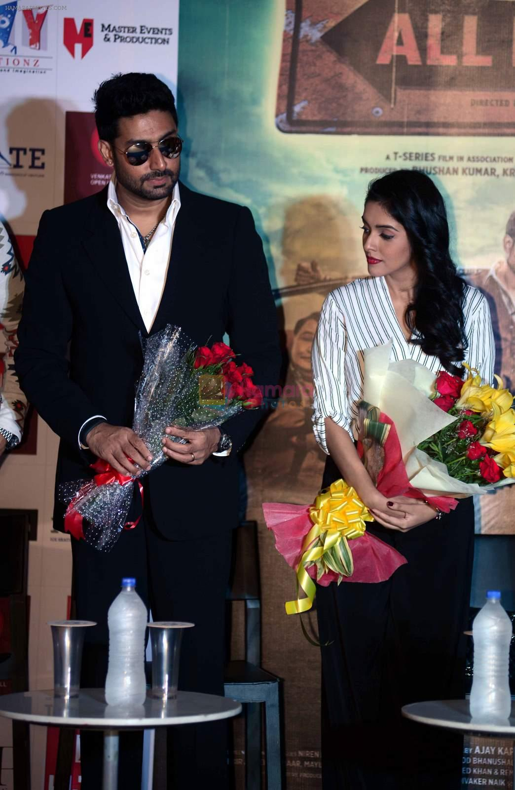 Asin Thottumkal, Abhishek Bachchan at All is well press meet in Gurgaon on 10th Aug 2015