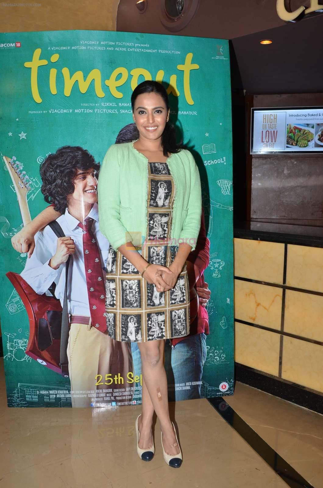 Swara Bhaskar at Timeout press meet in PVR on 16th Sept 2015