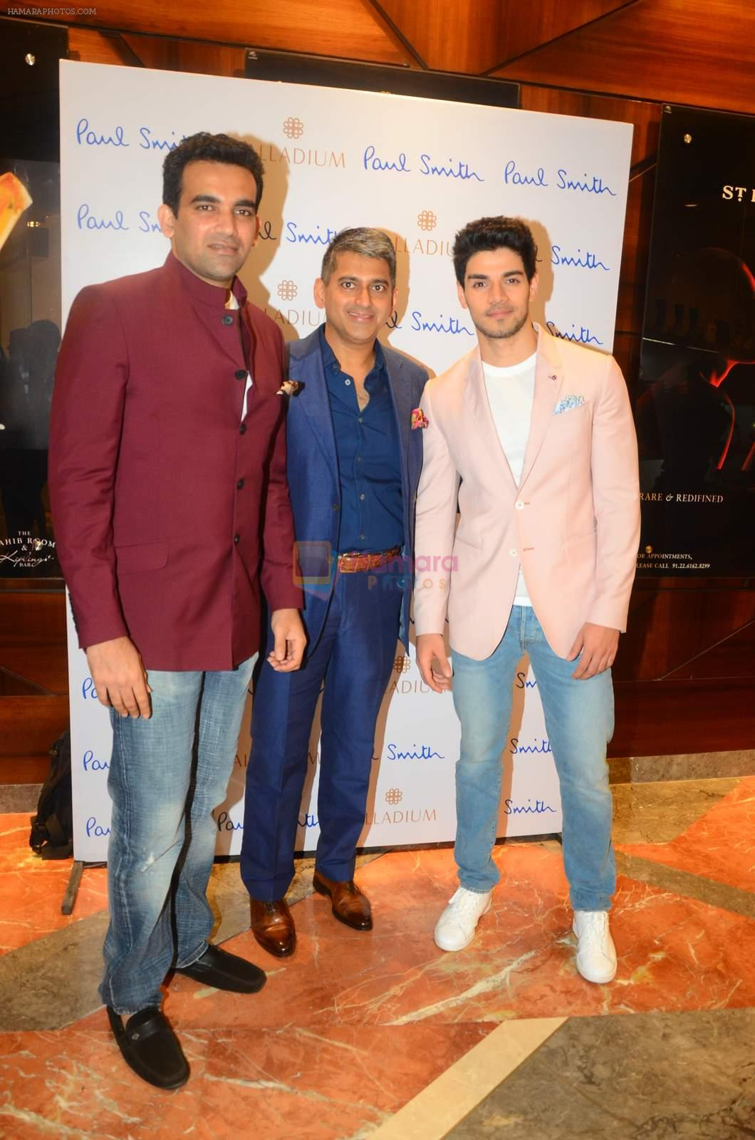 Zaheer Khan, Sooraj Pancholi at Paul Smith event in Palladium on 16th Sept 2015