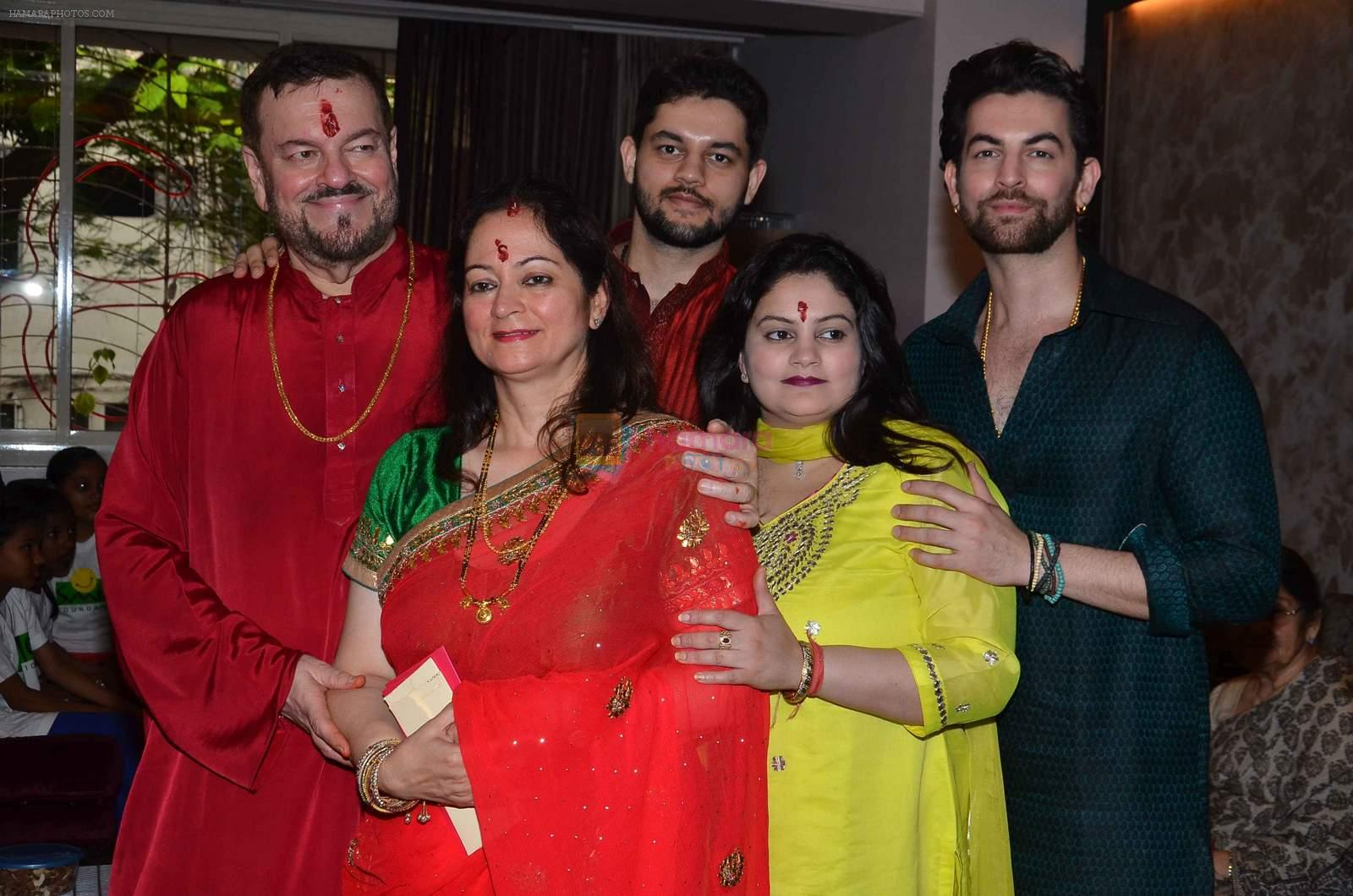 Neil Nitin Mukesh Ganapati celebrations on 17th Sept 2015