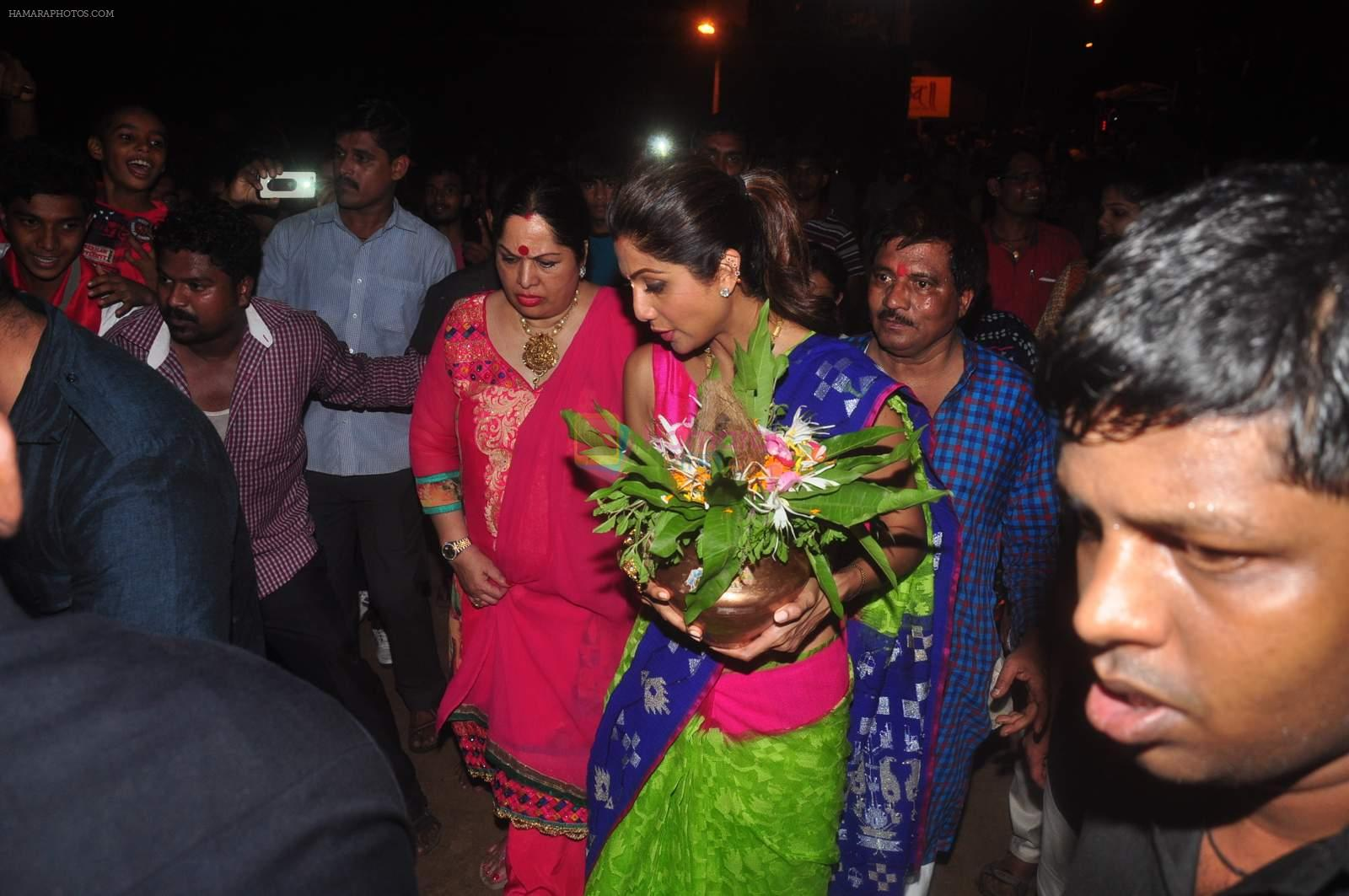 Shilpa Shetty's Ganpati Celebration on 18th Sept 2015