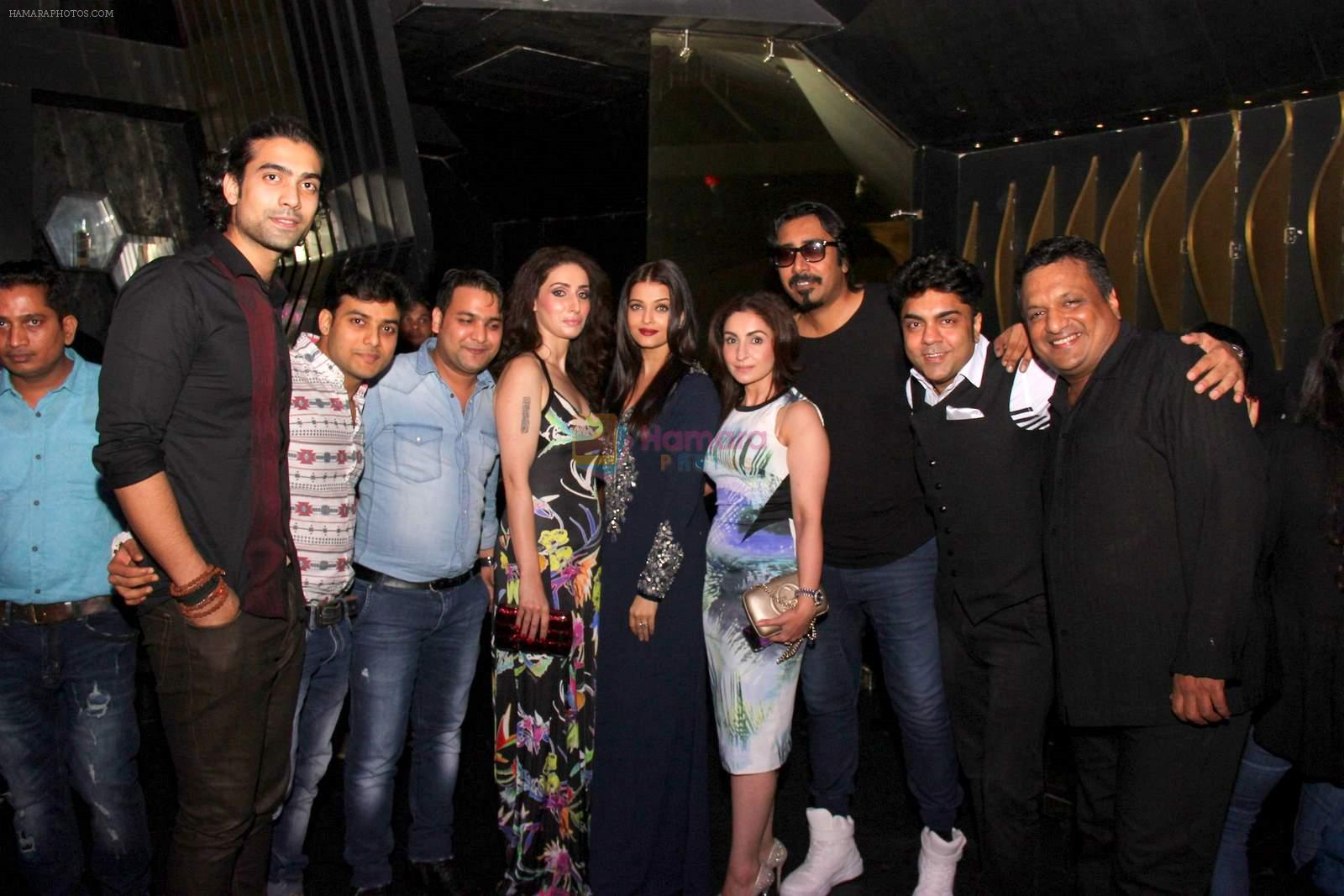 Jubin Nautiyal,Amjad,Nadeem,Nilofer Wani,Aishwarya ,Arko Mukherjee,Vipin Aneja,Sanjay Gupta at Jazbaa post bash on 20th Sept 2015