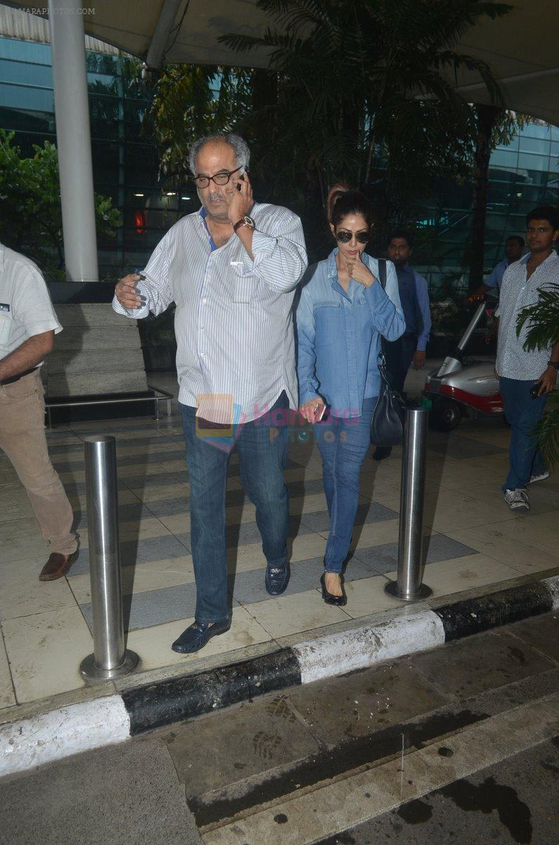Boney Kapoor snapped at airport on 20th Sept 2015