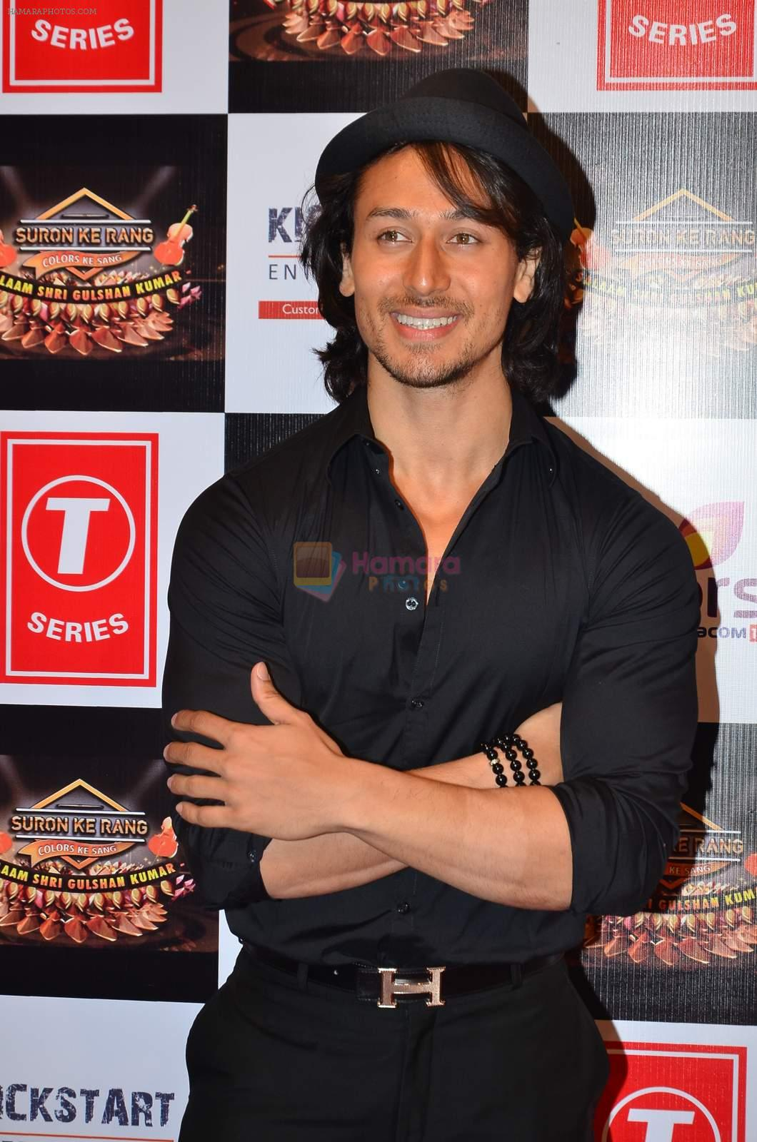 Tiger Shroff at Gulshan Kumar Tribute in Filmcity on 22nd Sept 2015