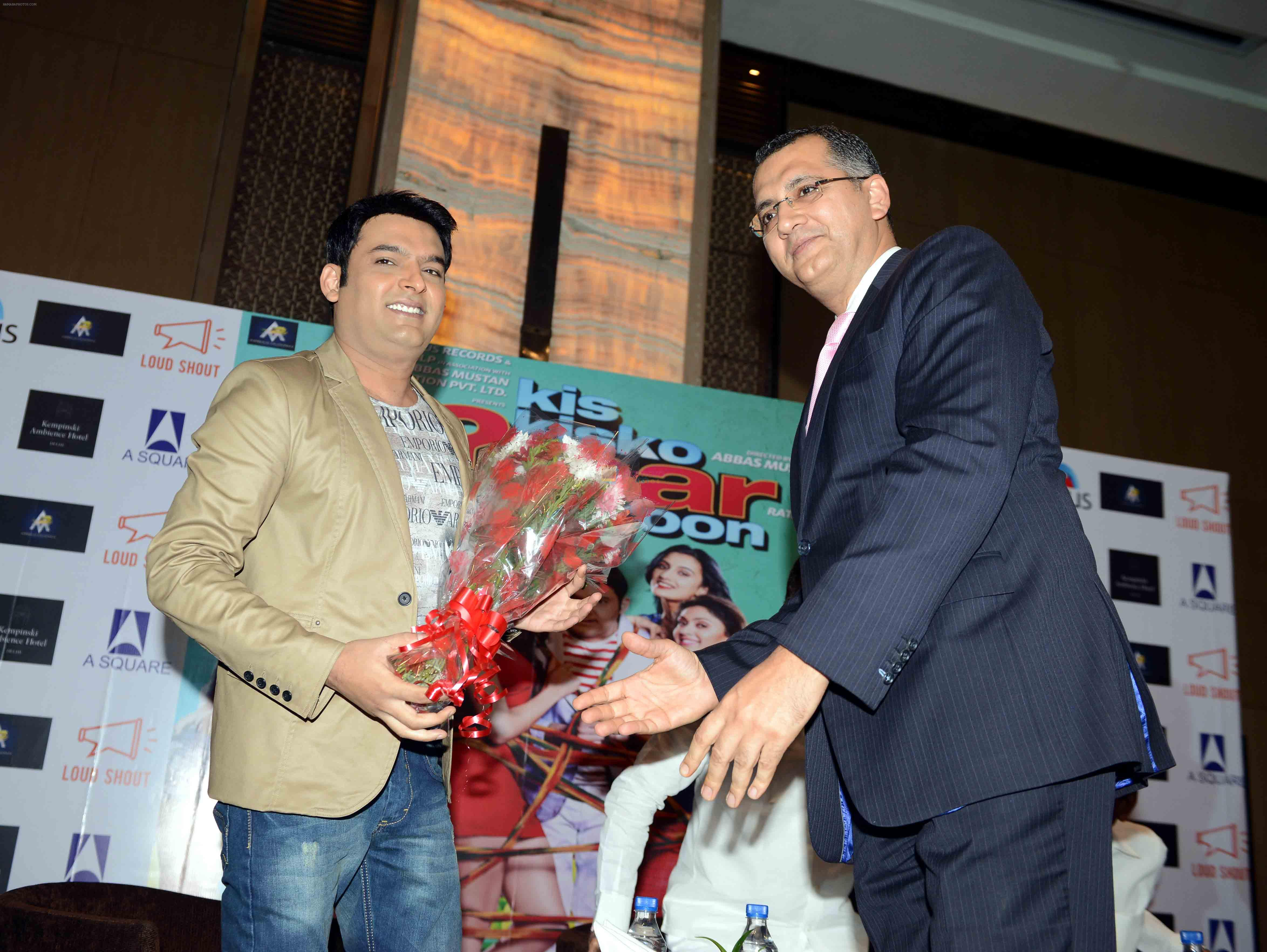 Kapil Sharma at the press conference of Film Kis Kisko Pyaar Karu in Delhi on 22nd Sept 2015