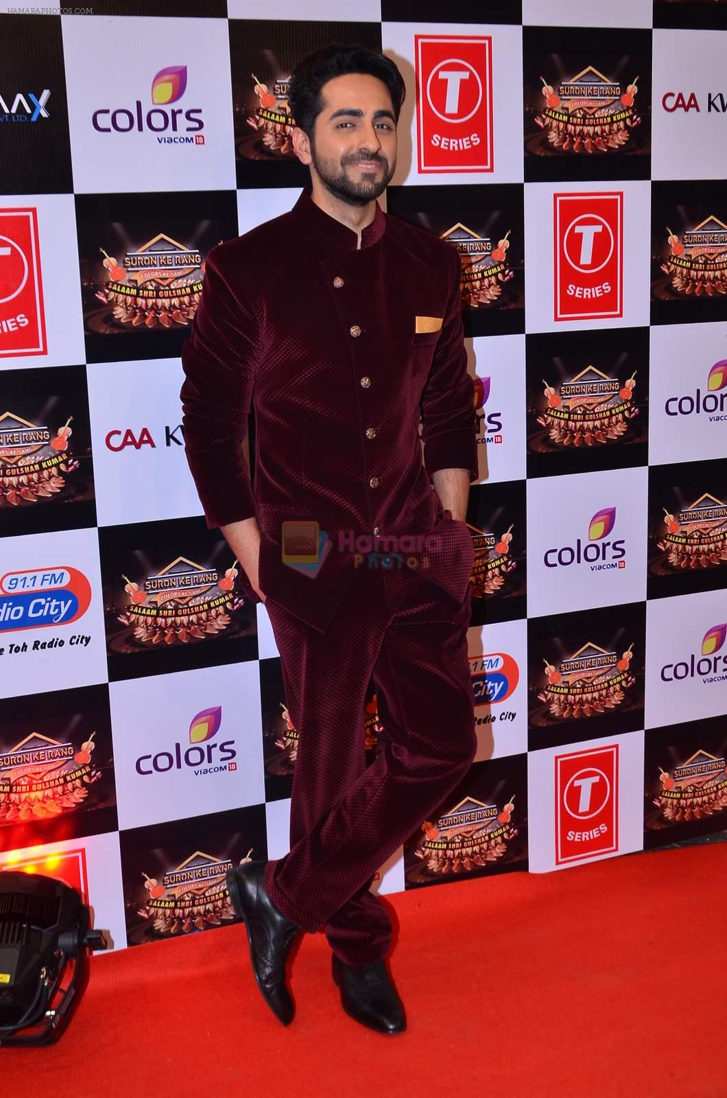 Ayushman Khurana at Gulshan Kumar Tribute in Filmcity on 22nd Sept 2015