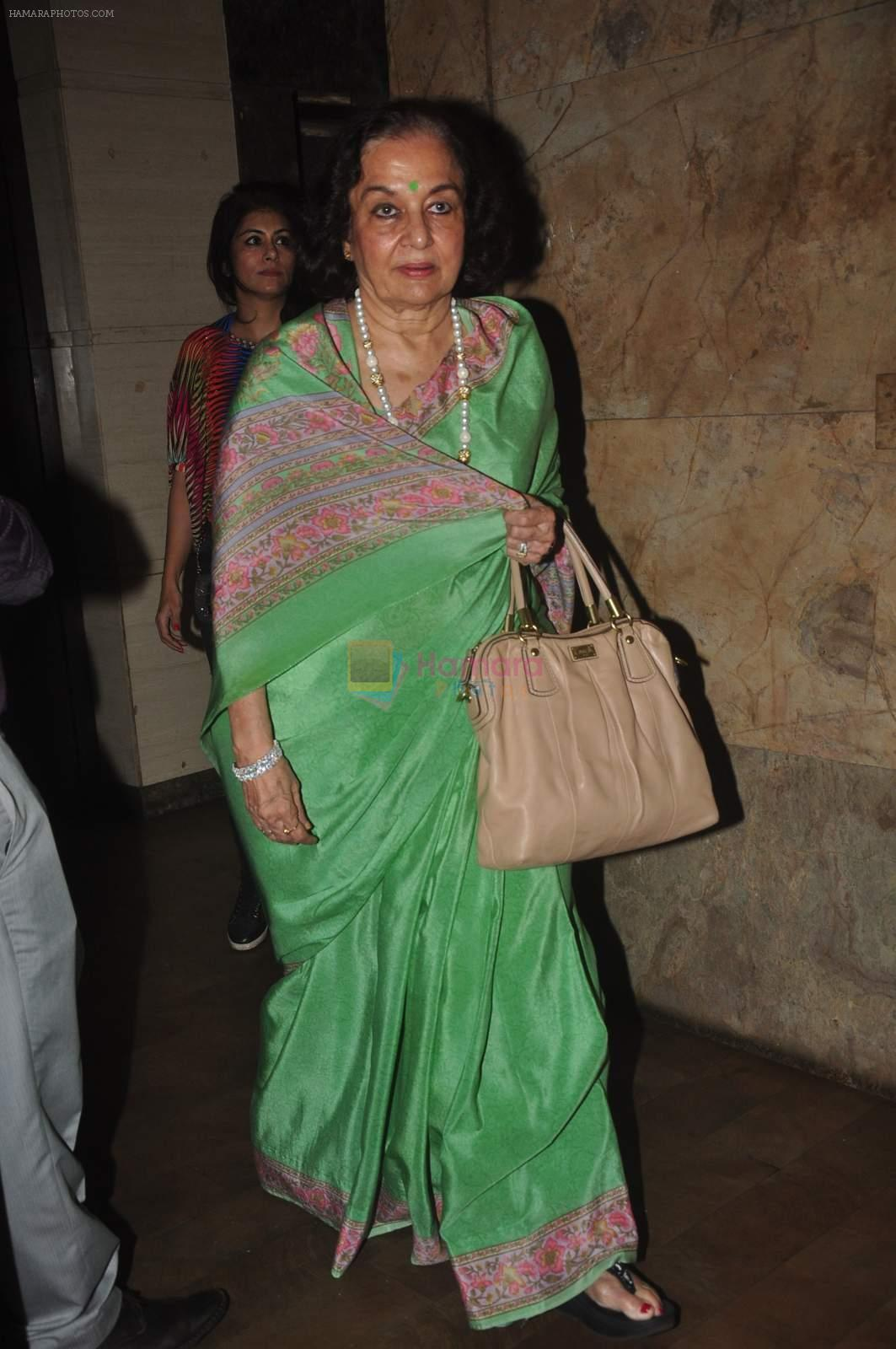 Asha Parekh at Manasi Scott's private screening of Kis Kis KO Pyar Karoon on 25th Sept 2015