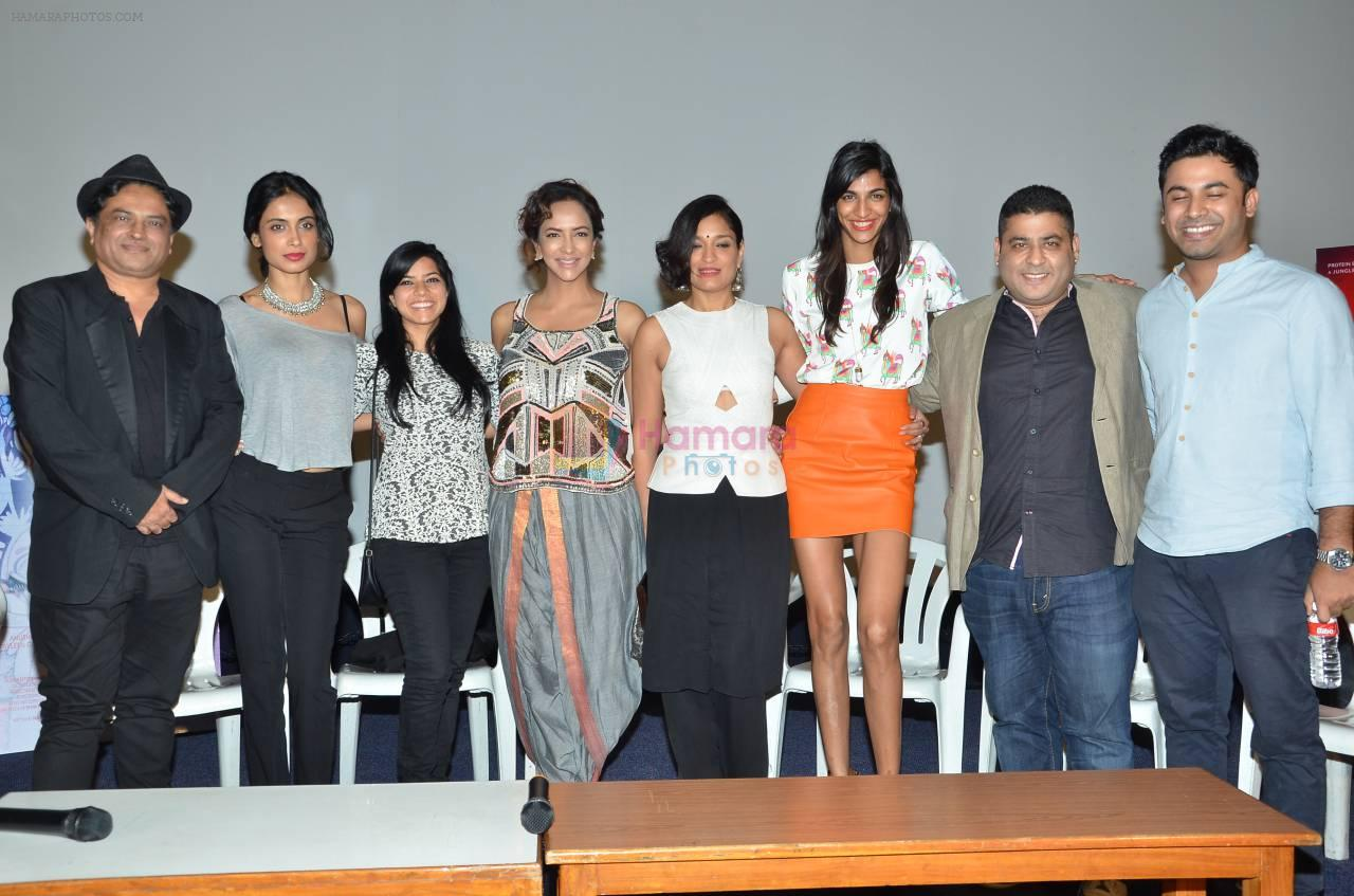 Sarah Jane Dias,Manchu Lakshmi, Sandhya Mridul, Anushka Manchanda at Angry Indian Goddess press meet on 22nd Nov 2015