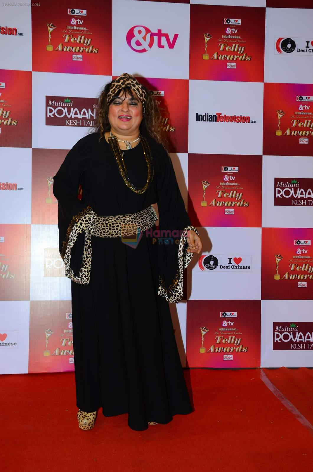 Dolly Bindra at Indian telly awards red carpet on 28th Nov