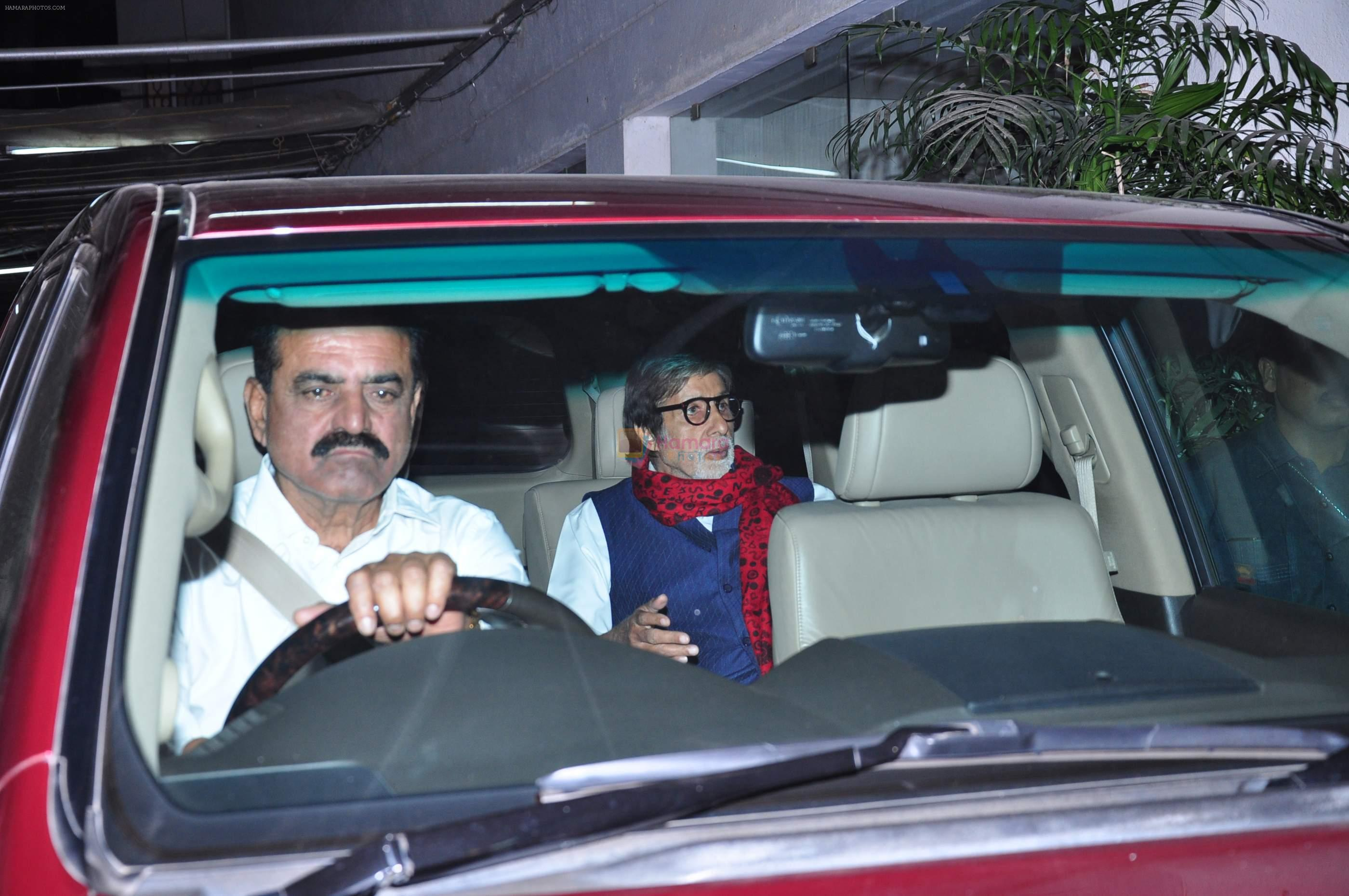 Amitabh Bachchan watches Wazir on 29th Dec 2015