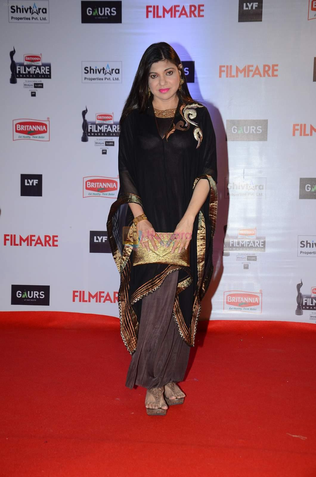 Alka Yagnik at Filmfare Awards 2016 on 15th Jan 2016