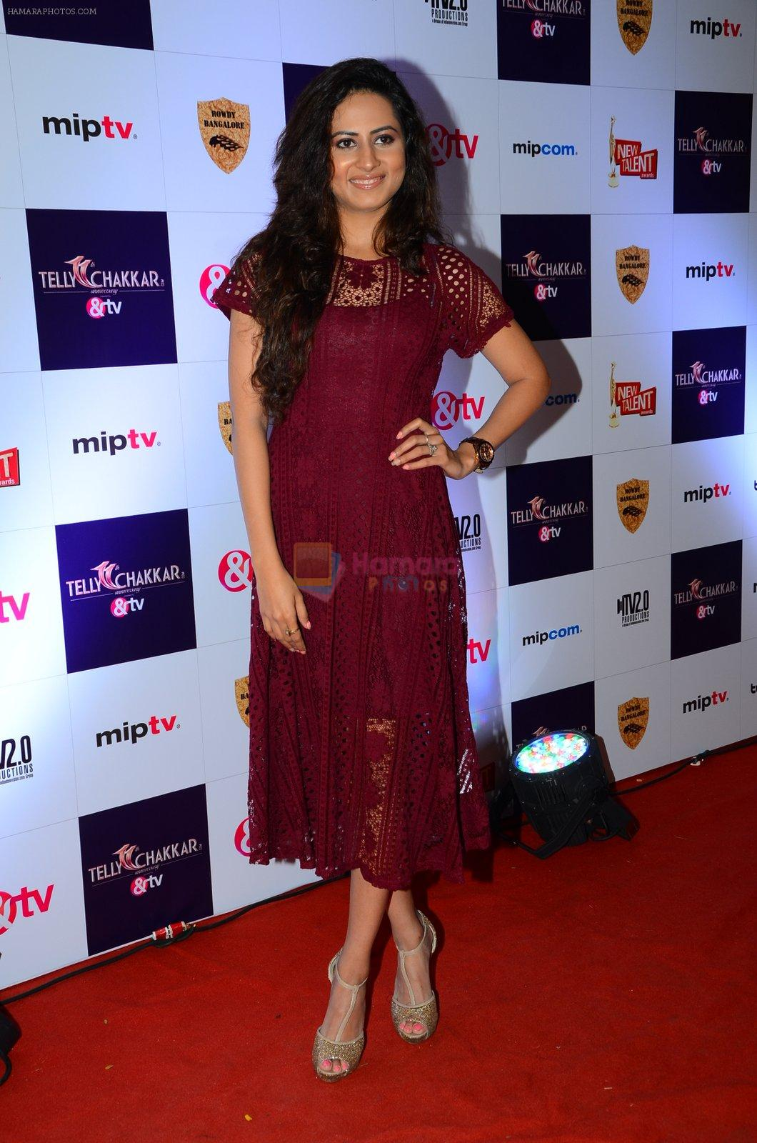 Sargun Mehta at Tellychakkar bash on 11th Feb 2016