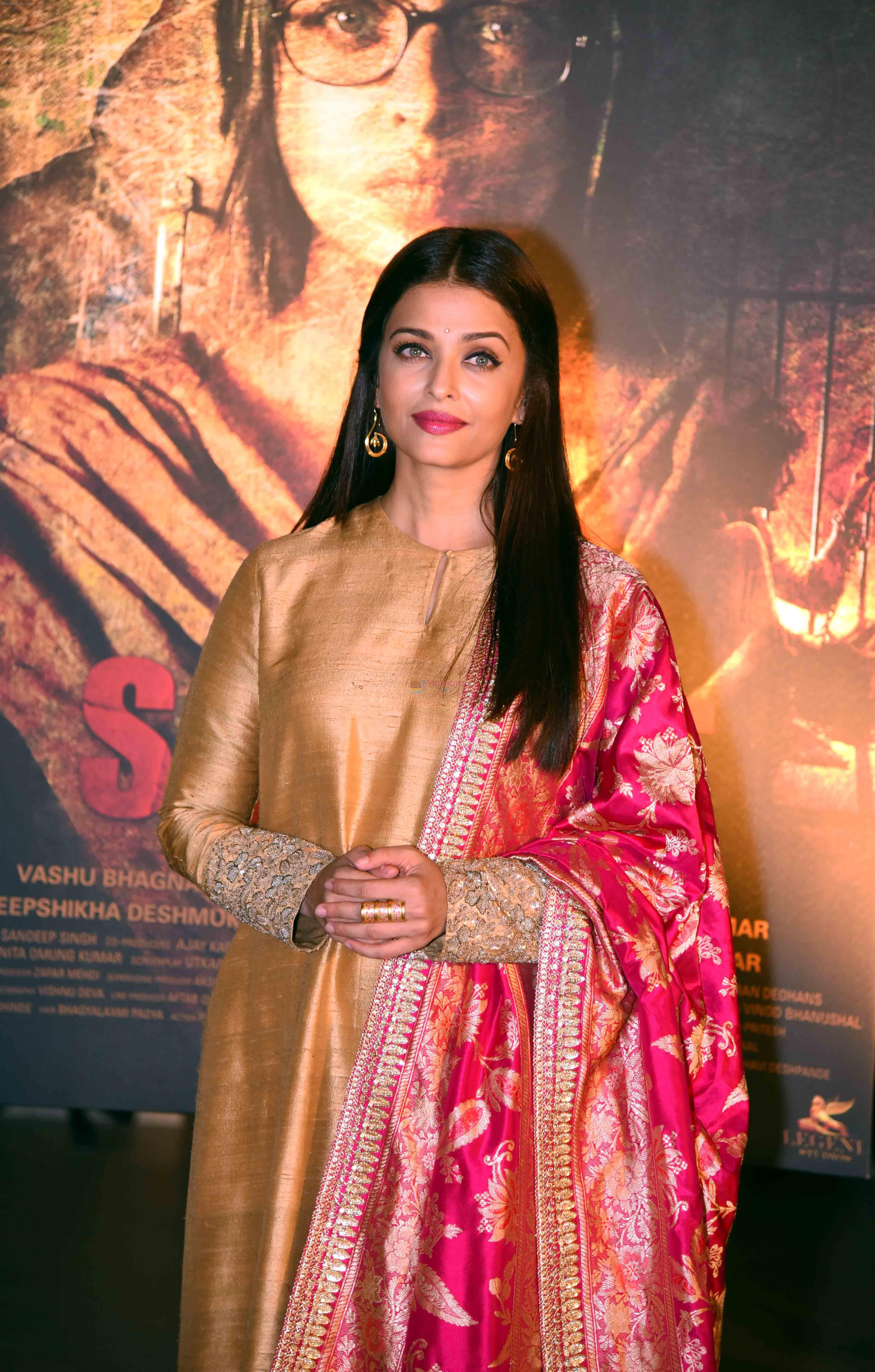 Aishwarya Rai Bachchan at the first look launch of Sarbjit in Delhi on 29th Feb 2016